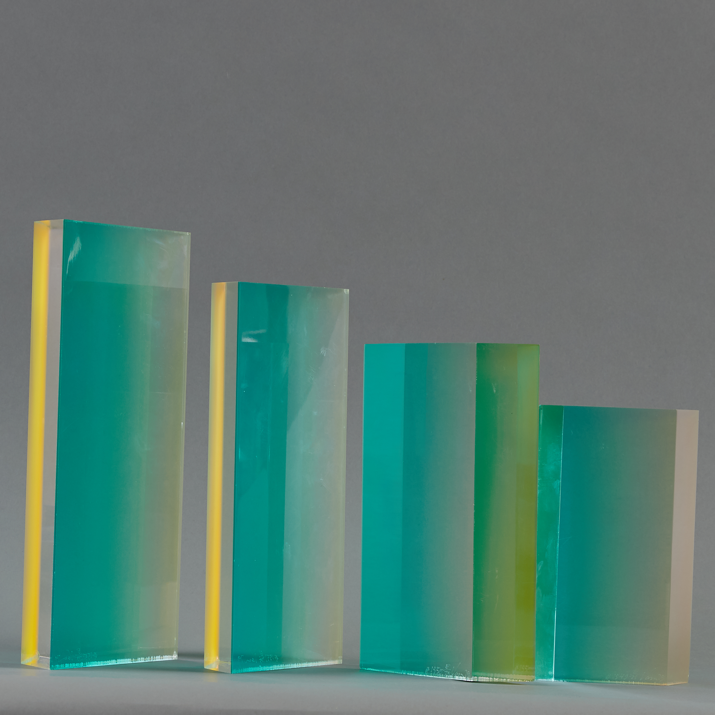 Lot 85 - Group of 4 Velizar Mihich VASA Acrylic Sculptures