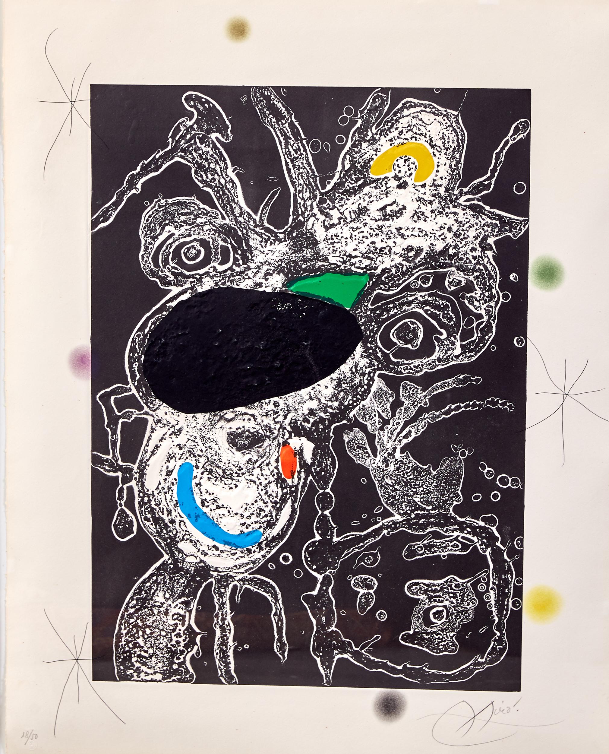 Lot 55 - Joan Miro Espriu Aquatint Etching on Paper D.871