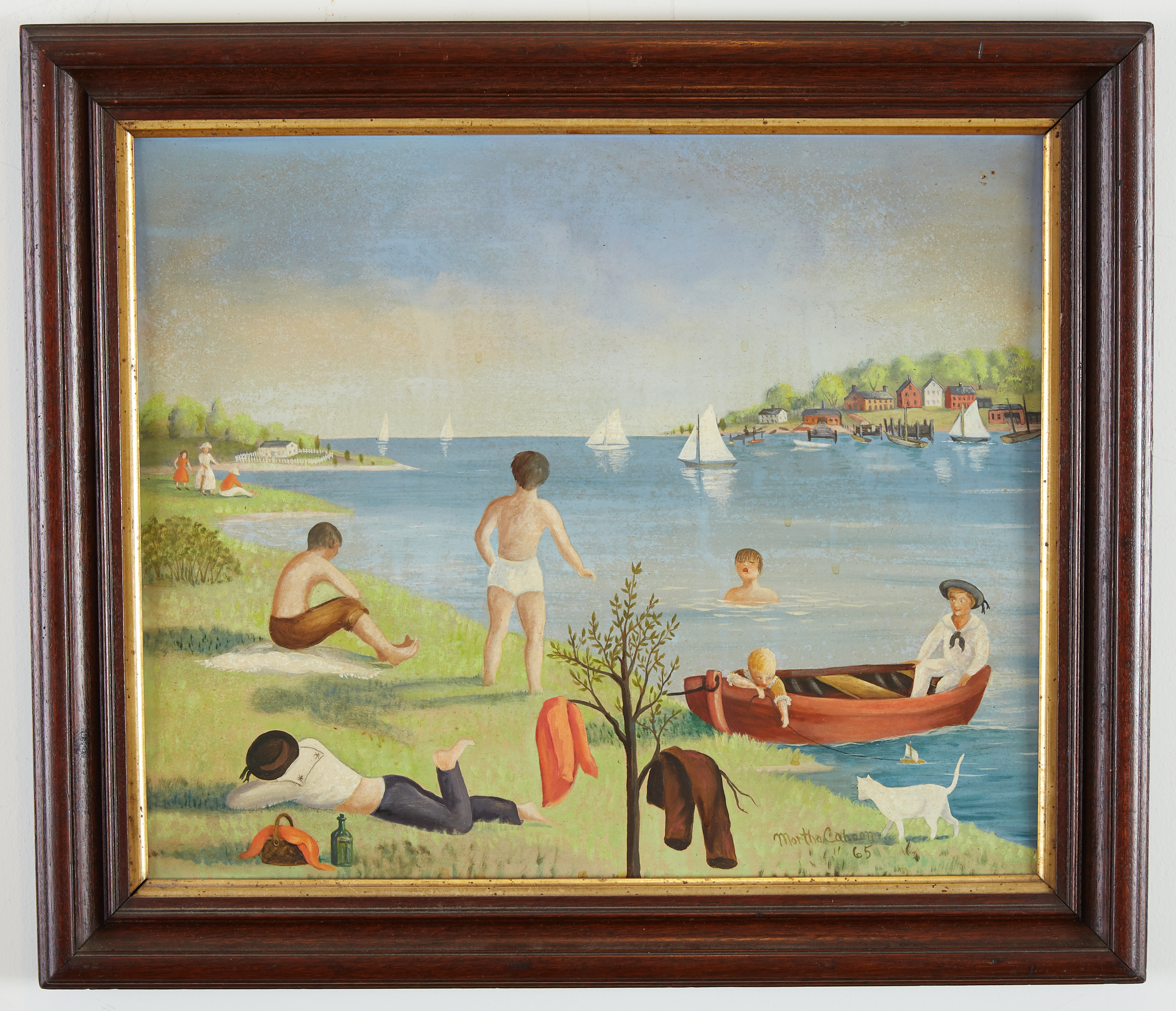 Lot 33 - Martha Cahoon Summertime Oil on Masonite