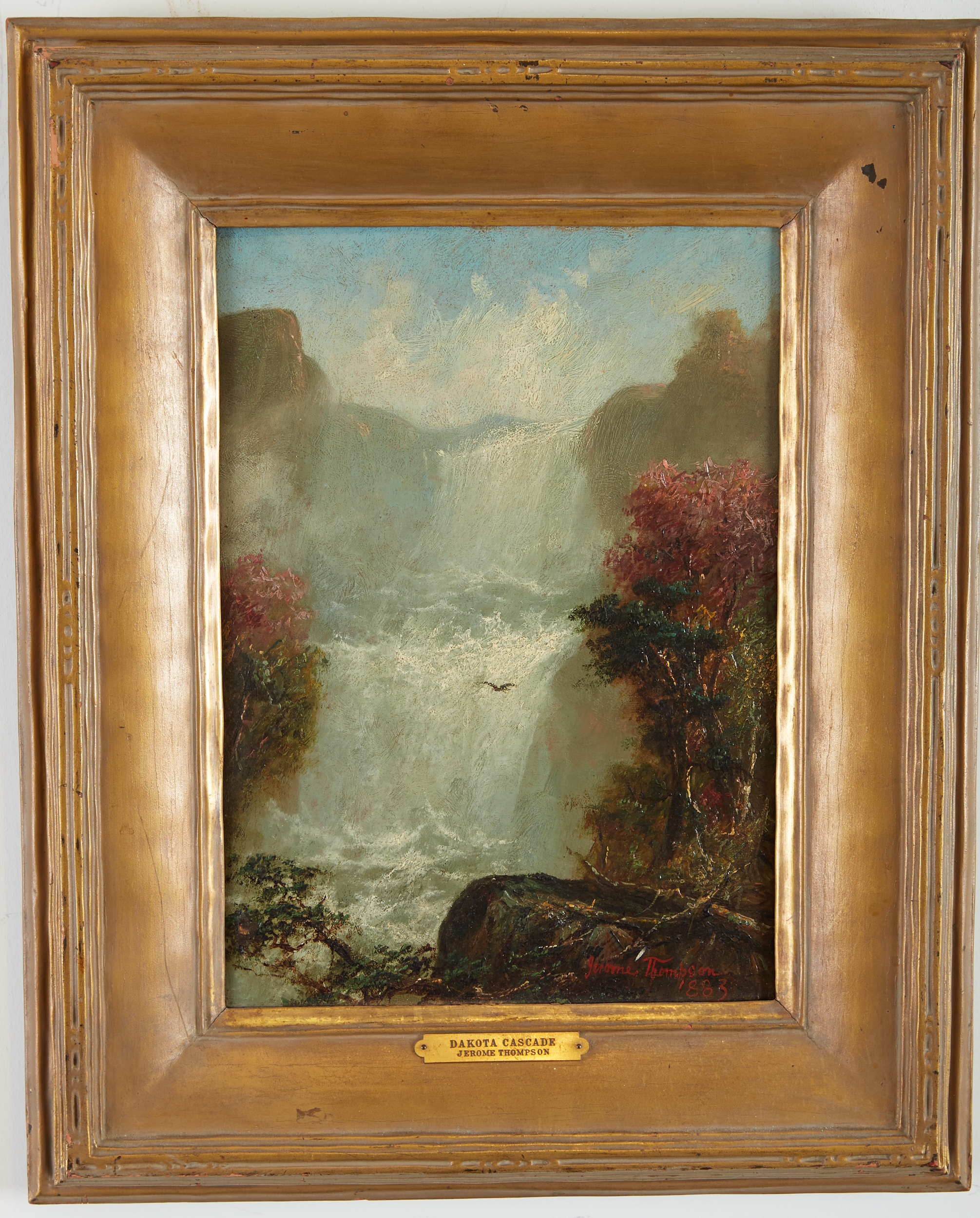 Lot 20 - Jerome B. Thompson Dakota Cascade Oil on Panel Painting