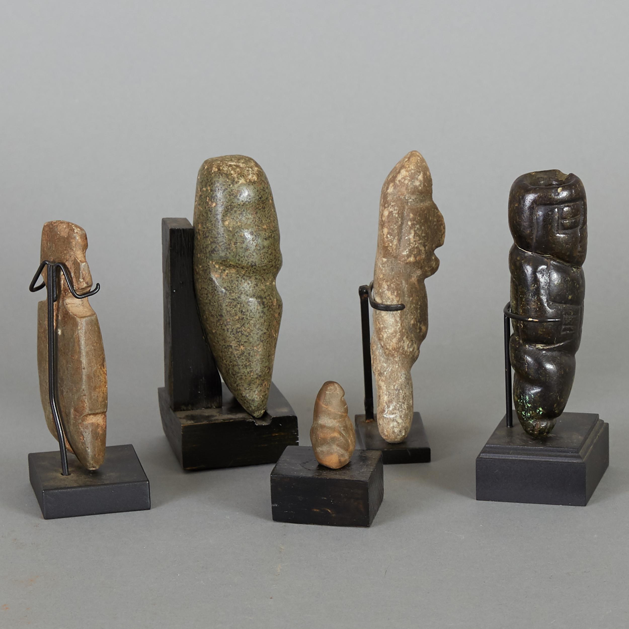Lot 192 - 5 Pre-Columbian Stone Figurines
