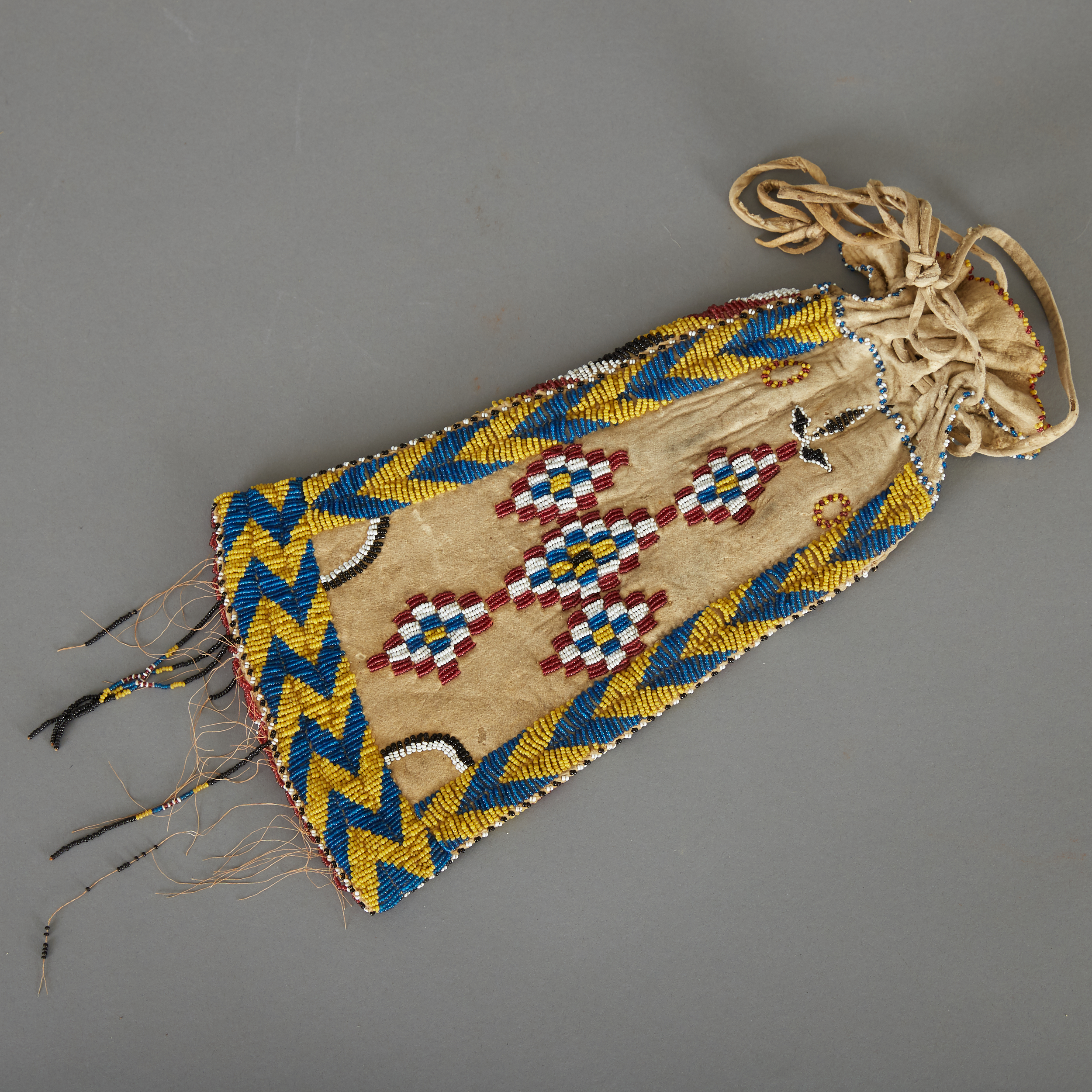 Lot 228 - Apache Beaded Pipe Bag Early 20th c.