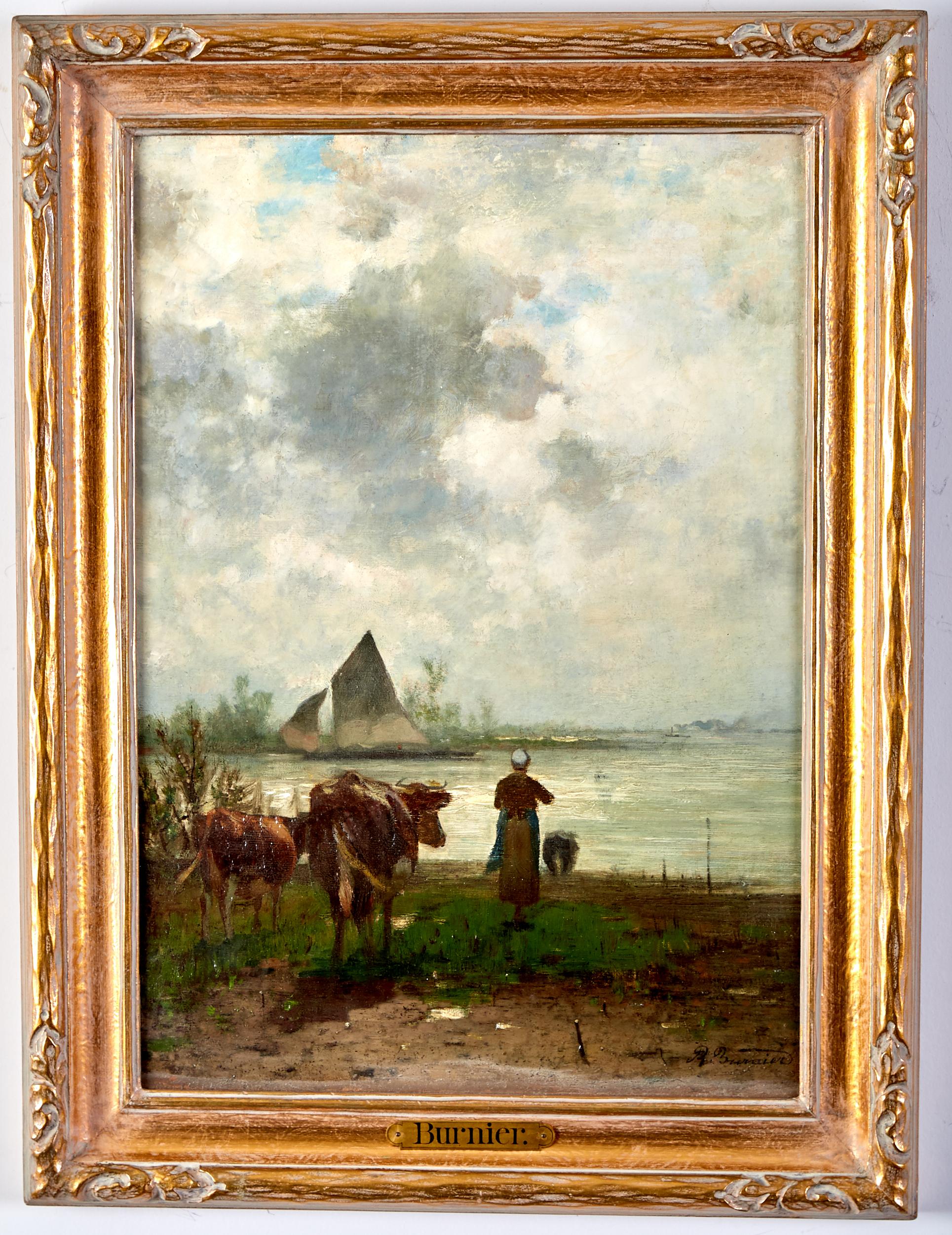 Lot 17 - Richard Burnier Painting Dutch Landscape