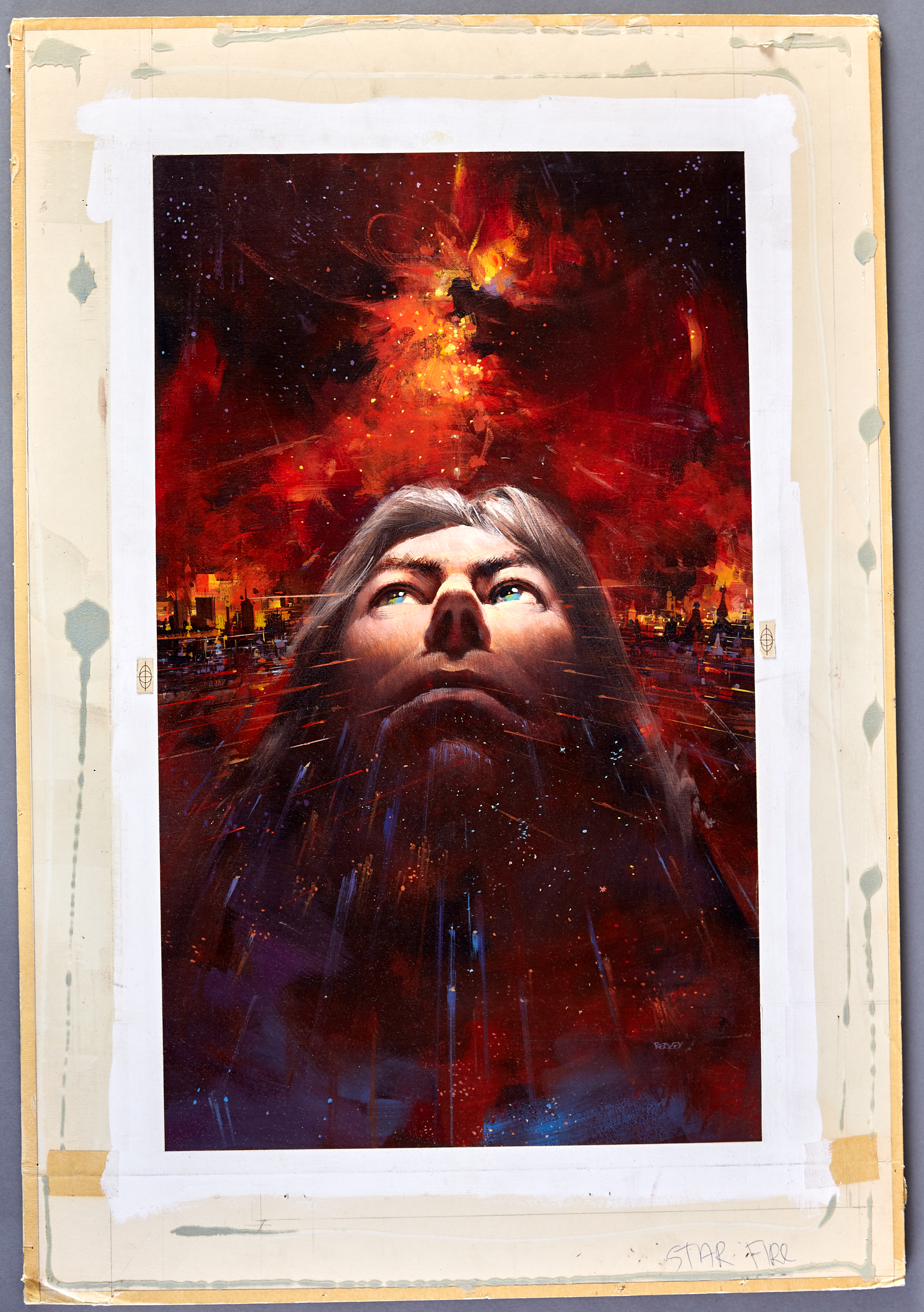 Lot 37 - John Berkey Star Fire Book Cover Illustration Painting