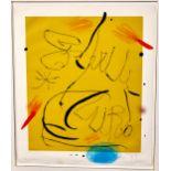 Lot 54 - Joan Miro Espriu Aquatint Etching on Paper 1975 D.877