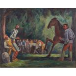 Lot 36 - Dewey Albinson Don Quixote Oil on Canvas