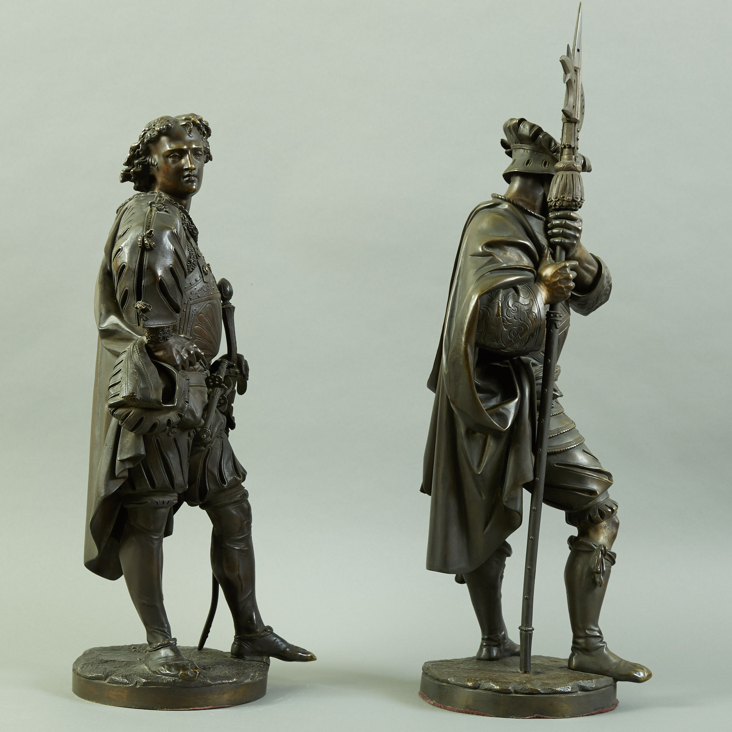 Lot 80 - Pair of Large Auguste Carrier Bronze Sculptures