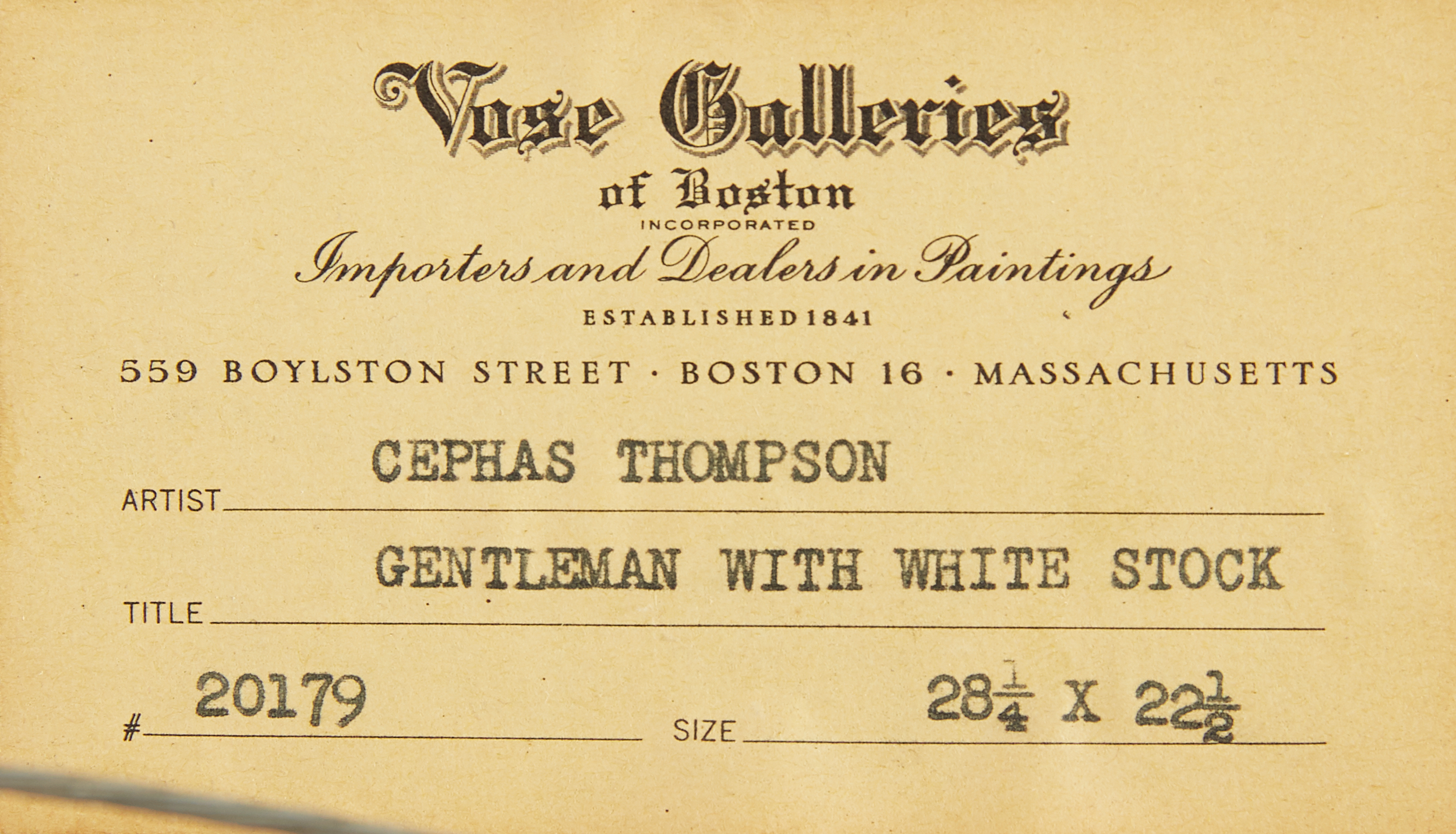 Lot 10 - Cephas Thompson Gentleman with White Stock