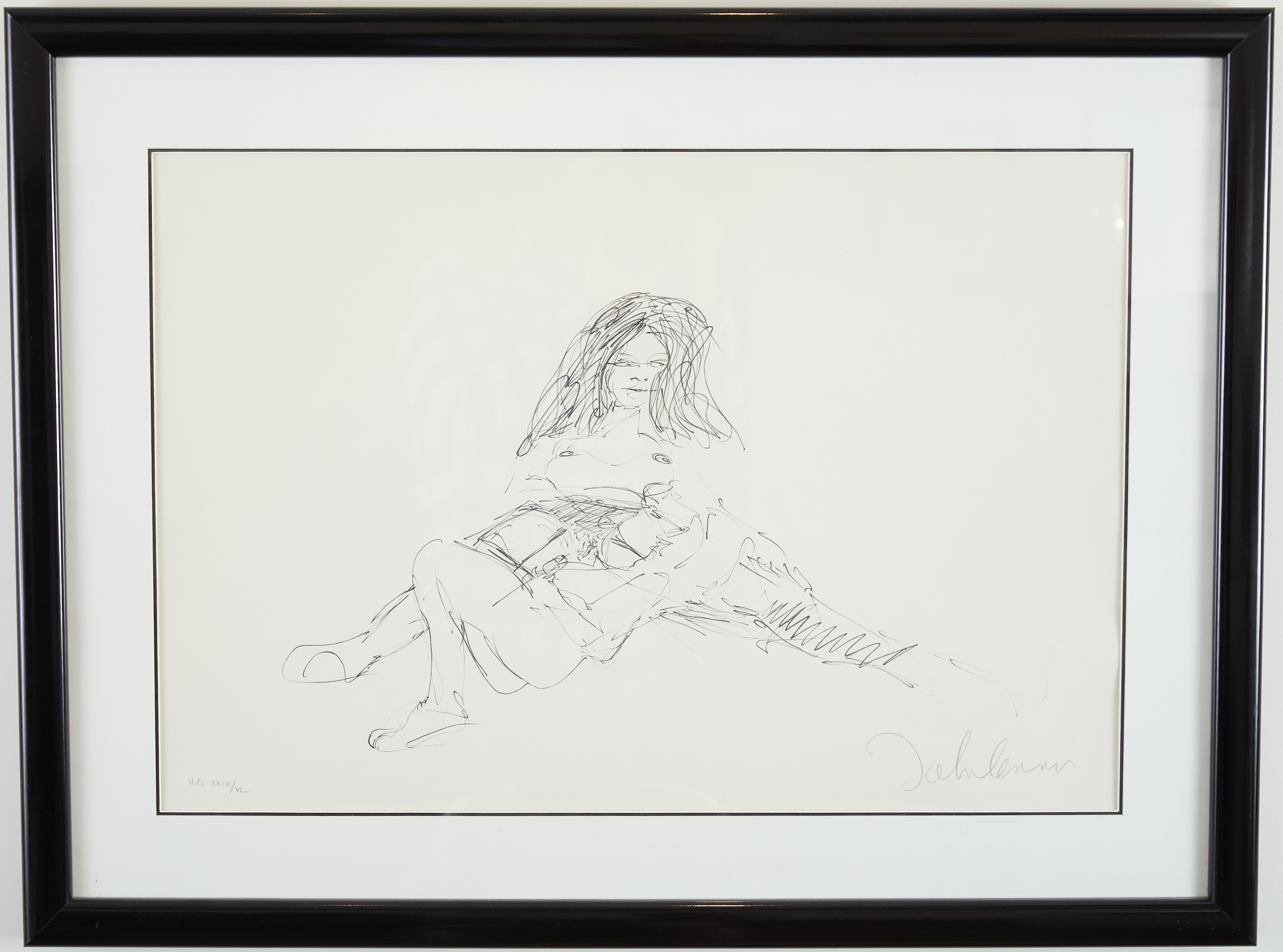 Lot 46 - John Lennon Erotic #1 Pencil Signed Lithograph Beatles
