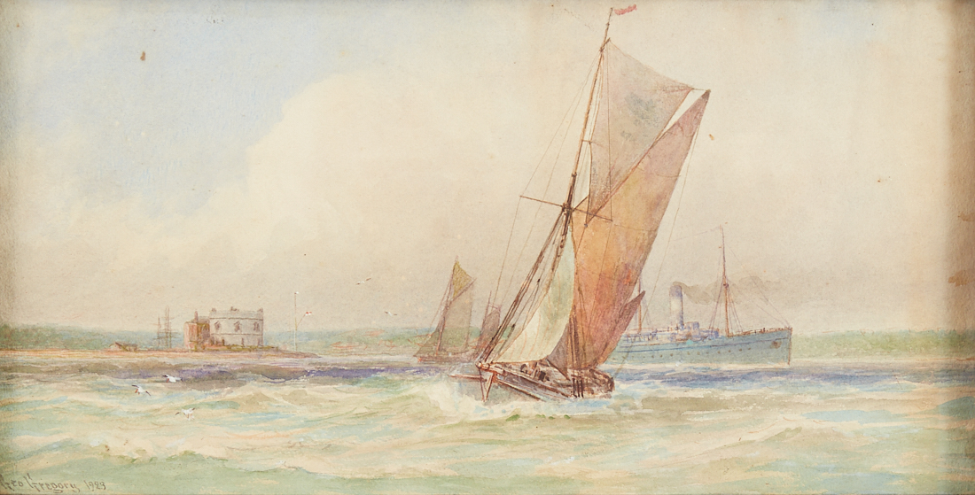 Lot 24 - George Gregory Marine Ship Watercolor