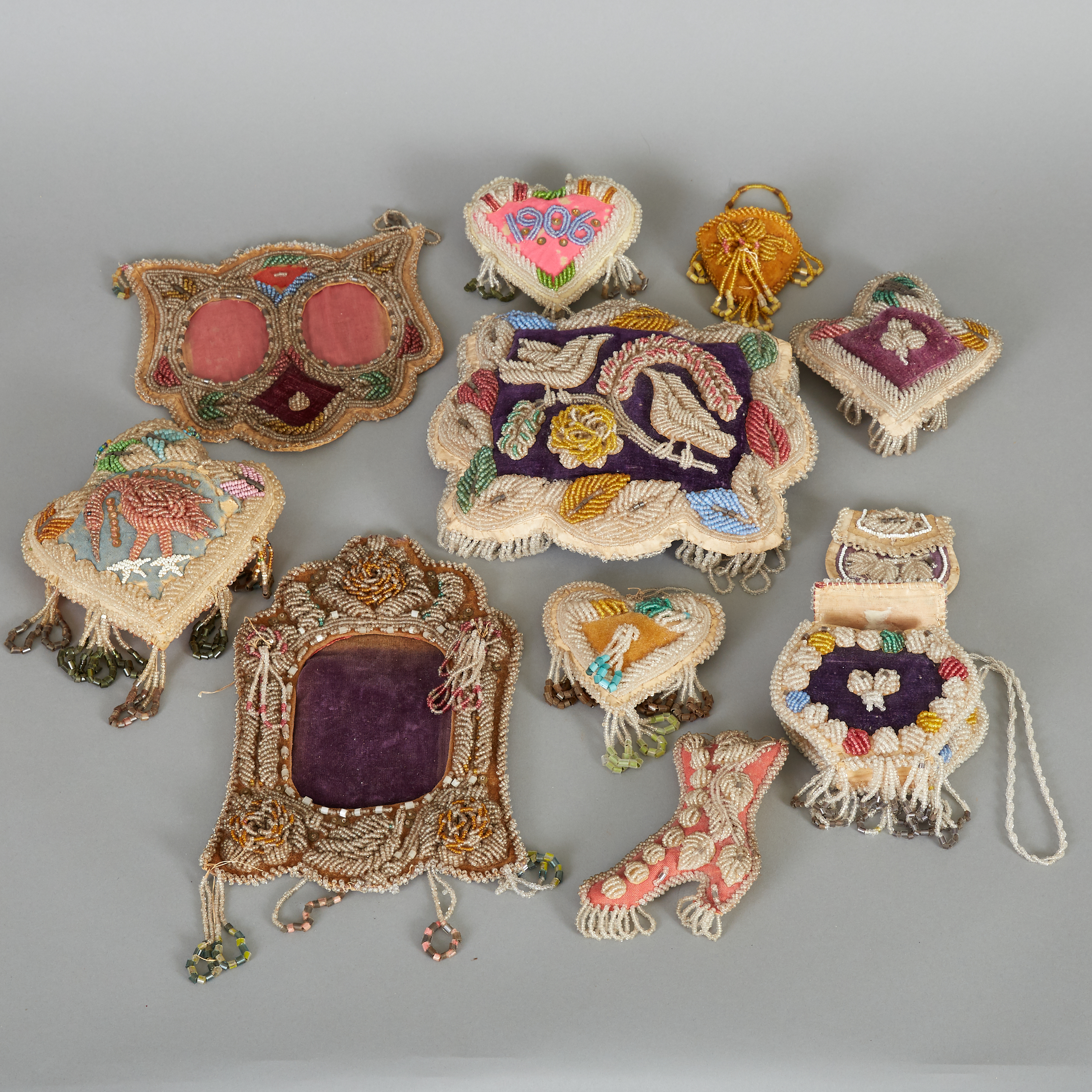 Lot 221 - Group of 11 Iroquois Beadwork Objects