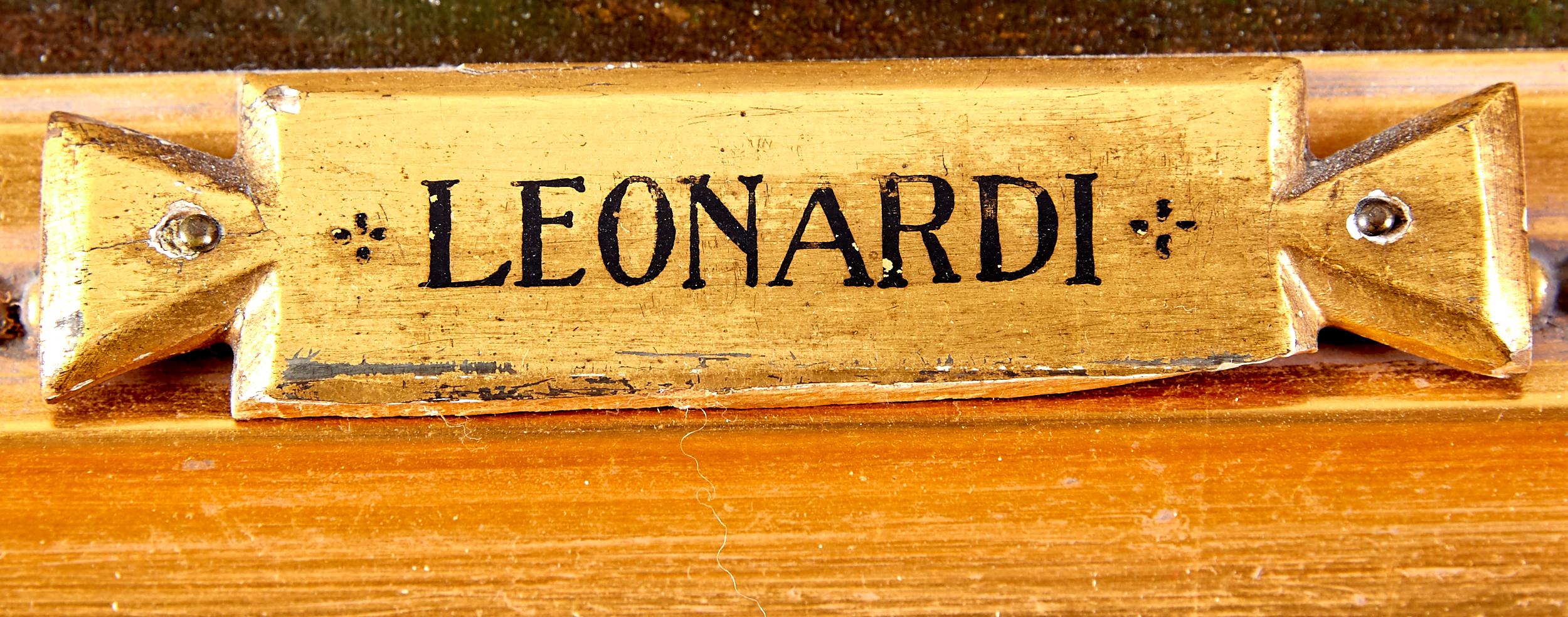 Lot 15 - Antique Painting Signed Leonardi Landscape Church