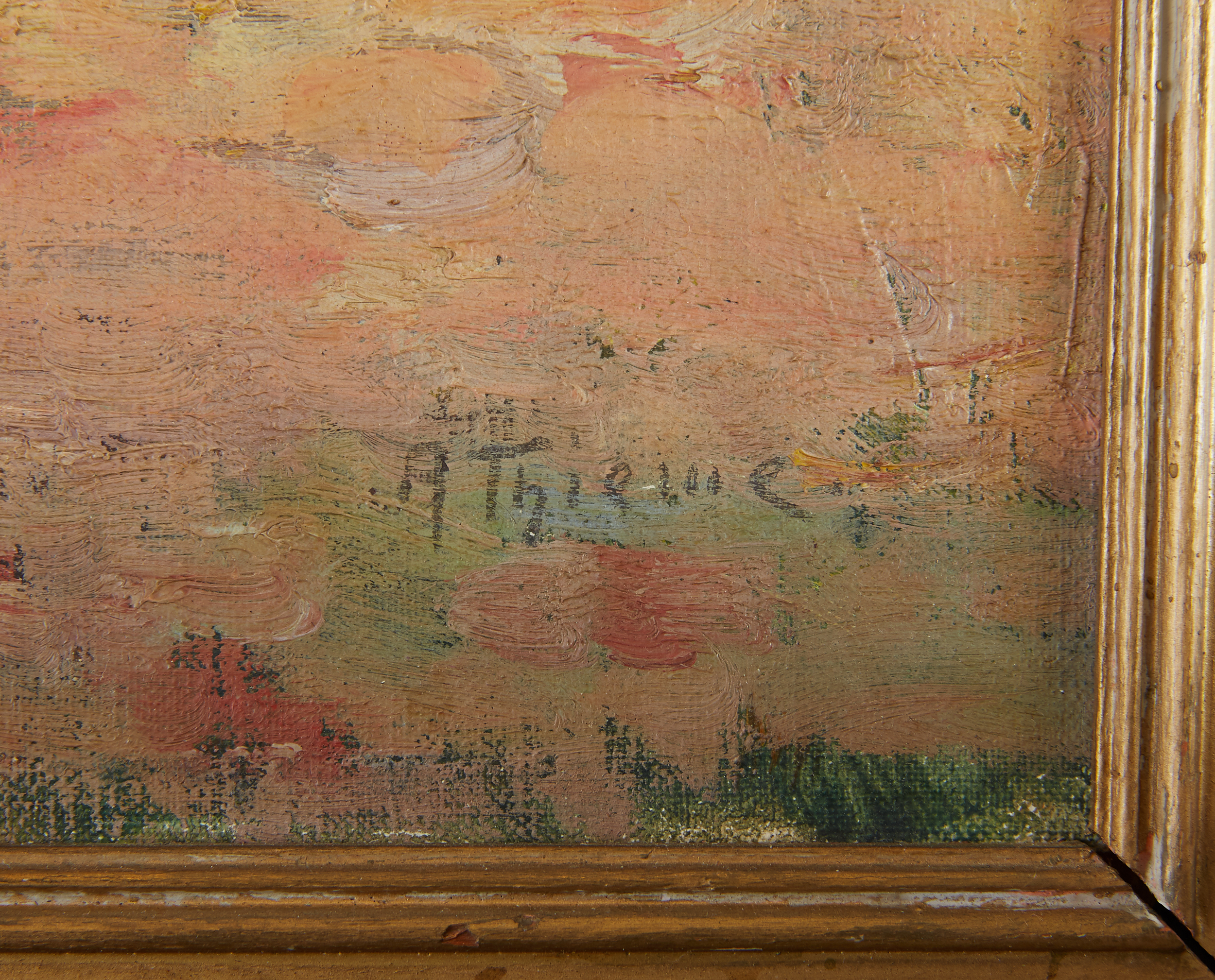 Lot 21 - Anthony Thieme Oil on Board Rockport Painting