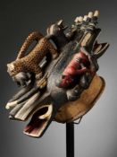Helmet Mask 'Goli Glin' - Baule People, Ivory Coast - Tribal ArtThe Goli Glin mask, representing the