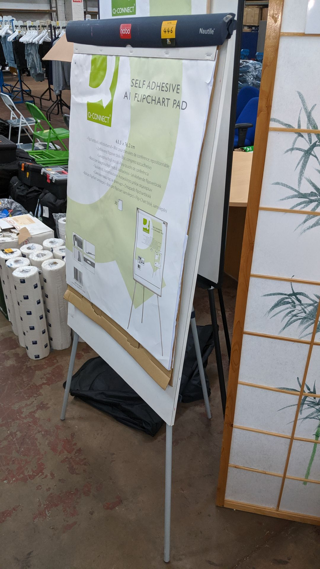 Lot 446 - Nobo Nautile flipchart/whiteboard. This is one of a large number of lots used/owned by One To One (