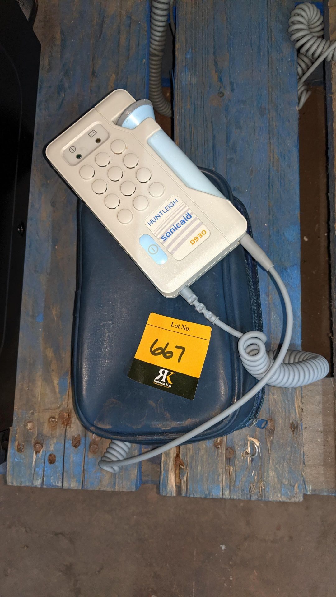 Lot 667 - Huntleigh Sonicaid D930 Fetal Doppler including case. This is one of a large number of lots used/