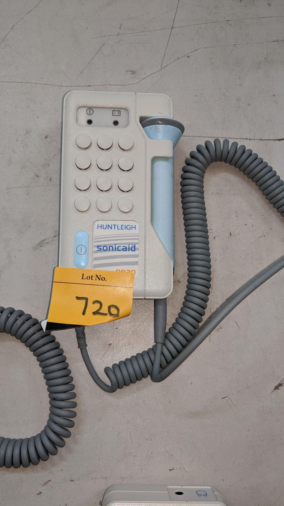 Lot 720 - Huntleigh Sonicaid D930 Fetal Doppler tester. This is one of a large number of lots used/owned by