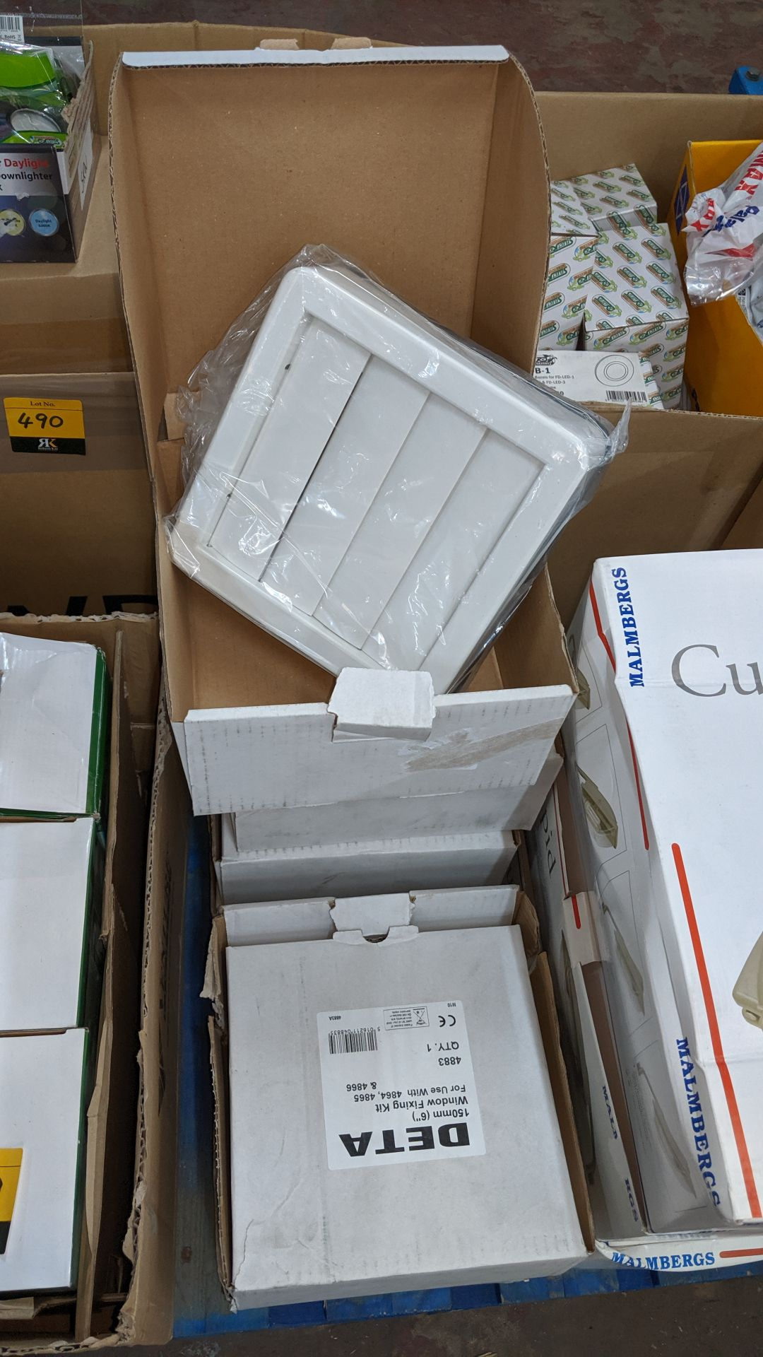 Lot 488 - 6 boxes of Deta 150mm window fixing kits. IMPORTANT: Please remember goods successfully bid upon
