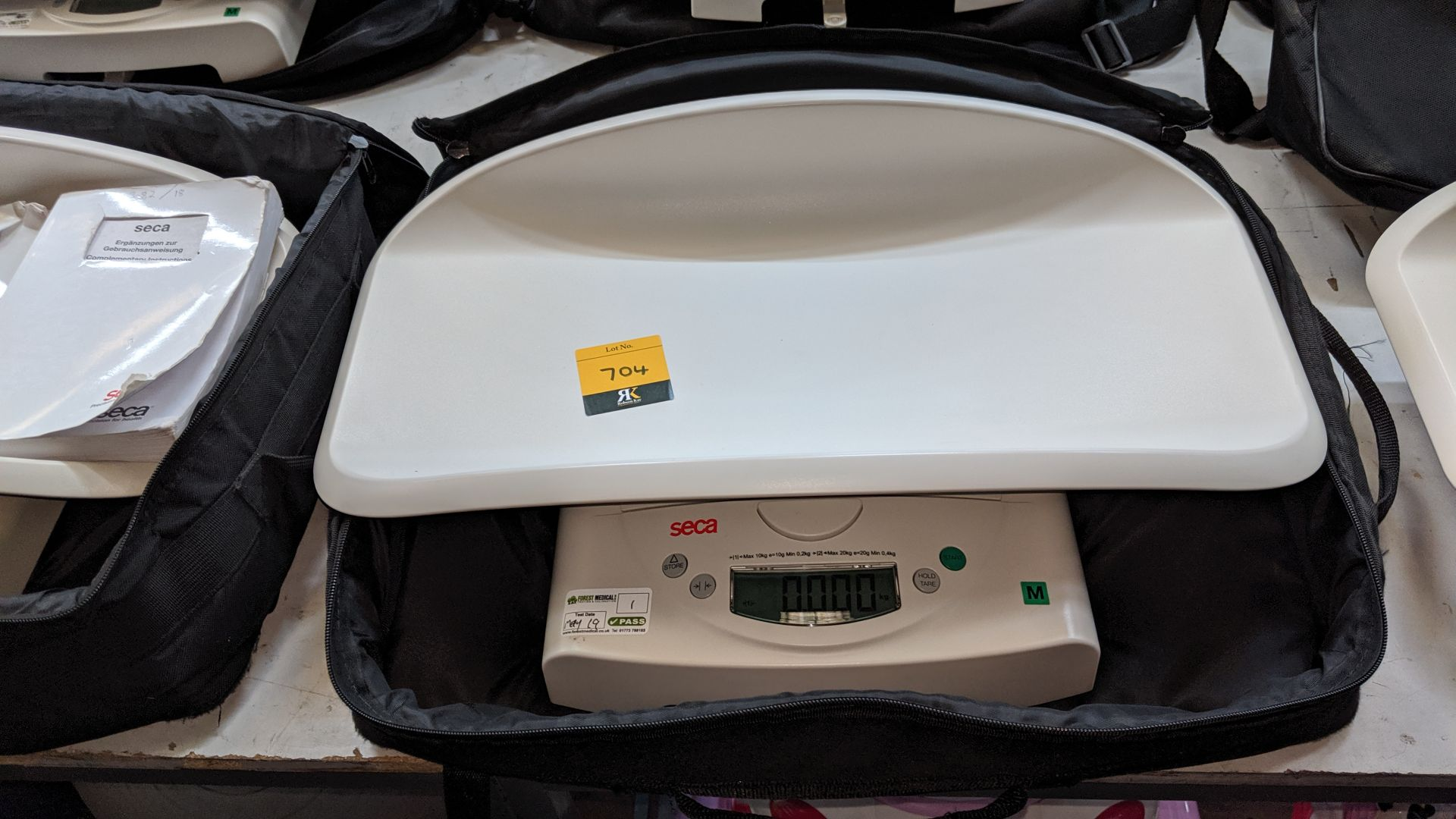 Lot 704 - Seca model 384 baby scales max. capacity 20kg. This is one of a large number of lots used/owned by