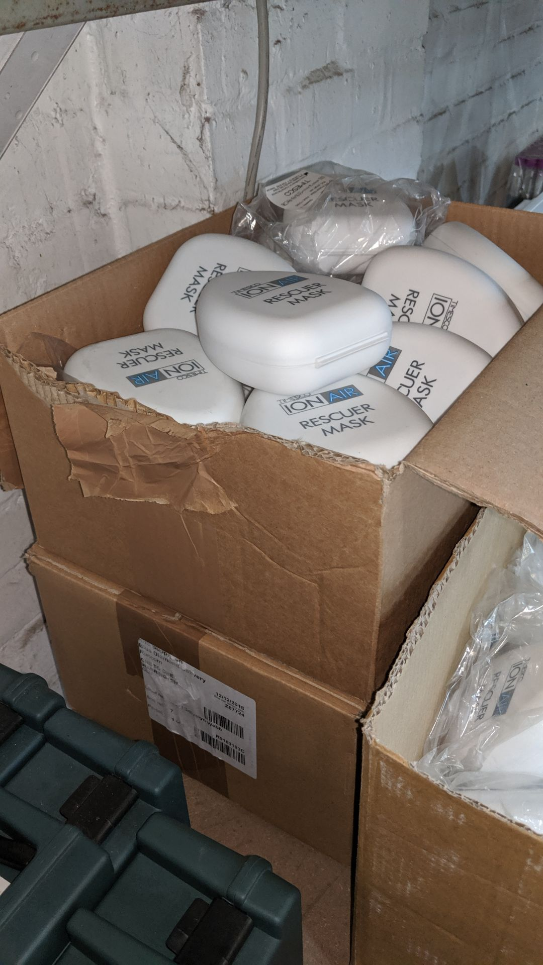 Lot 542 - 3 boxes of Timesco Ion Air Rescue Masks. This is one of a large number of lots used/owned by One