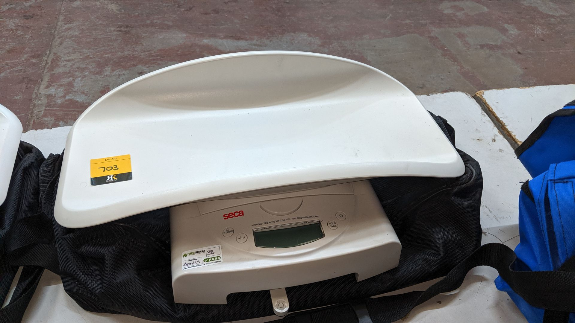 Lot 703 - Seca model 384 baby scales max. capacity 20kg. This is one of a large number of lots used/owned by