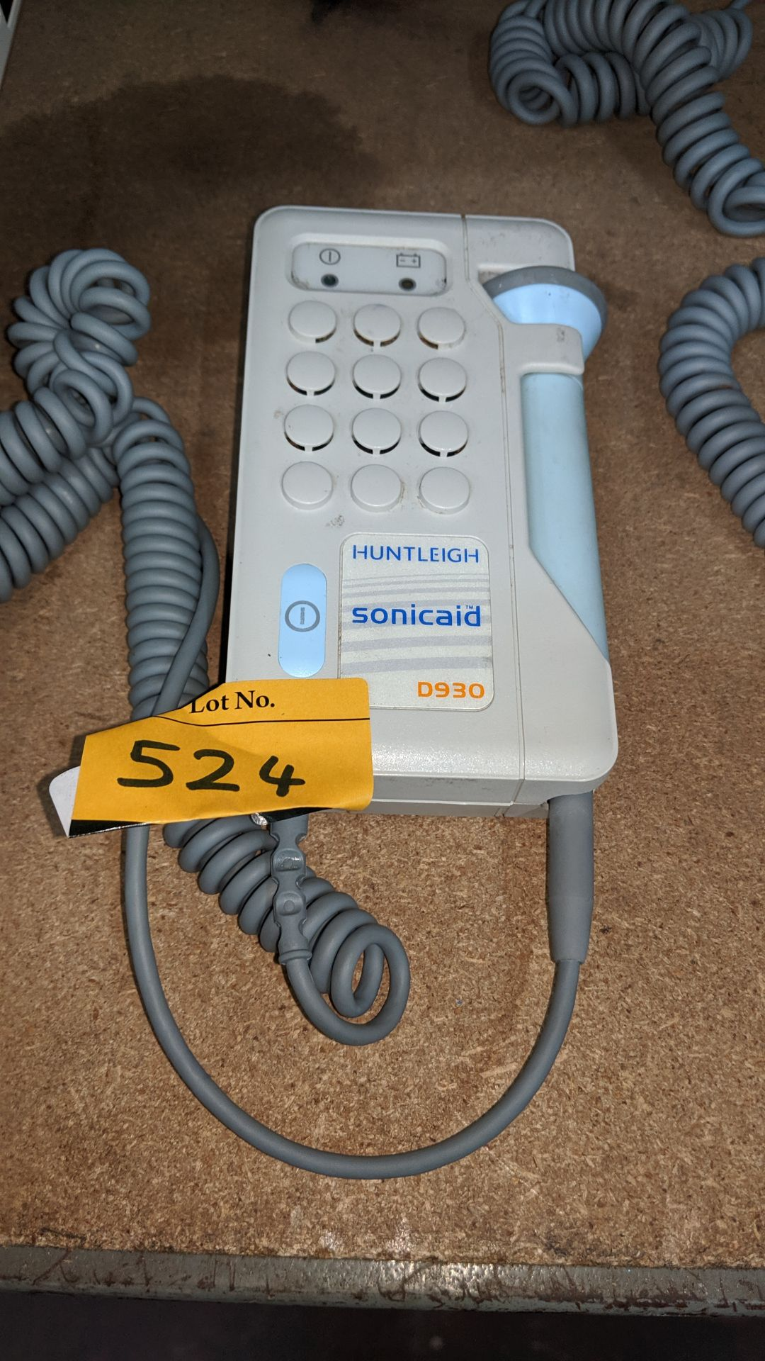 Lot 524 - Huntleigh Sonicaid model D930 Fetal Doppler . This is one of a large number of lots used/owned by