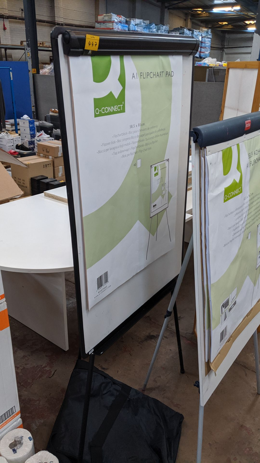 Lot 447 - Flipchart/whiteboard including carry case. This is one of a large number of lots used/owned by One