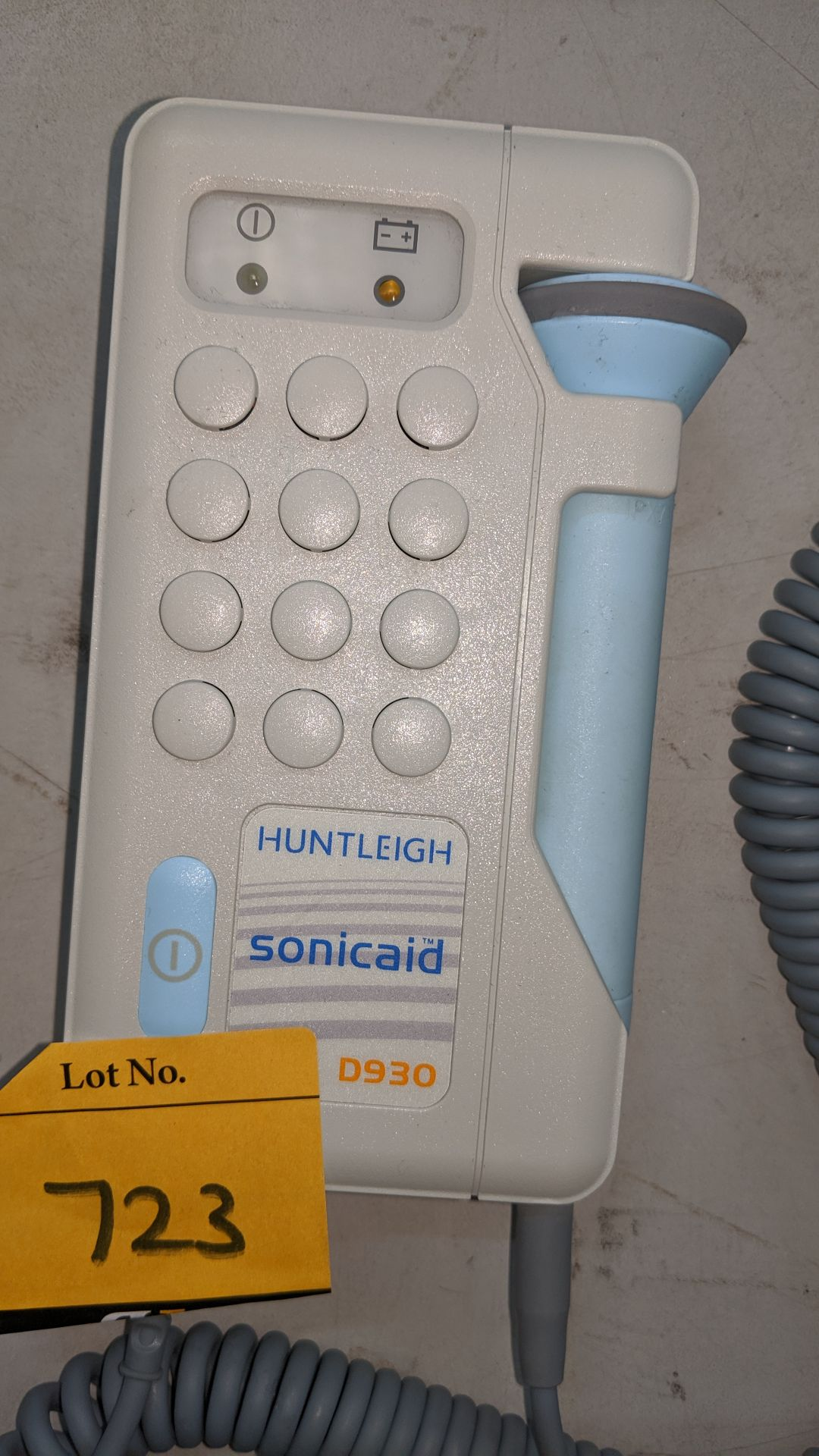 Lot 723 - Huntleigh Sonicaid D930 Fetal Doppler tester. This is one of a large number of lots used/owned by