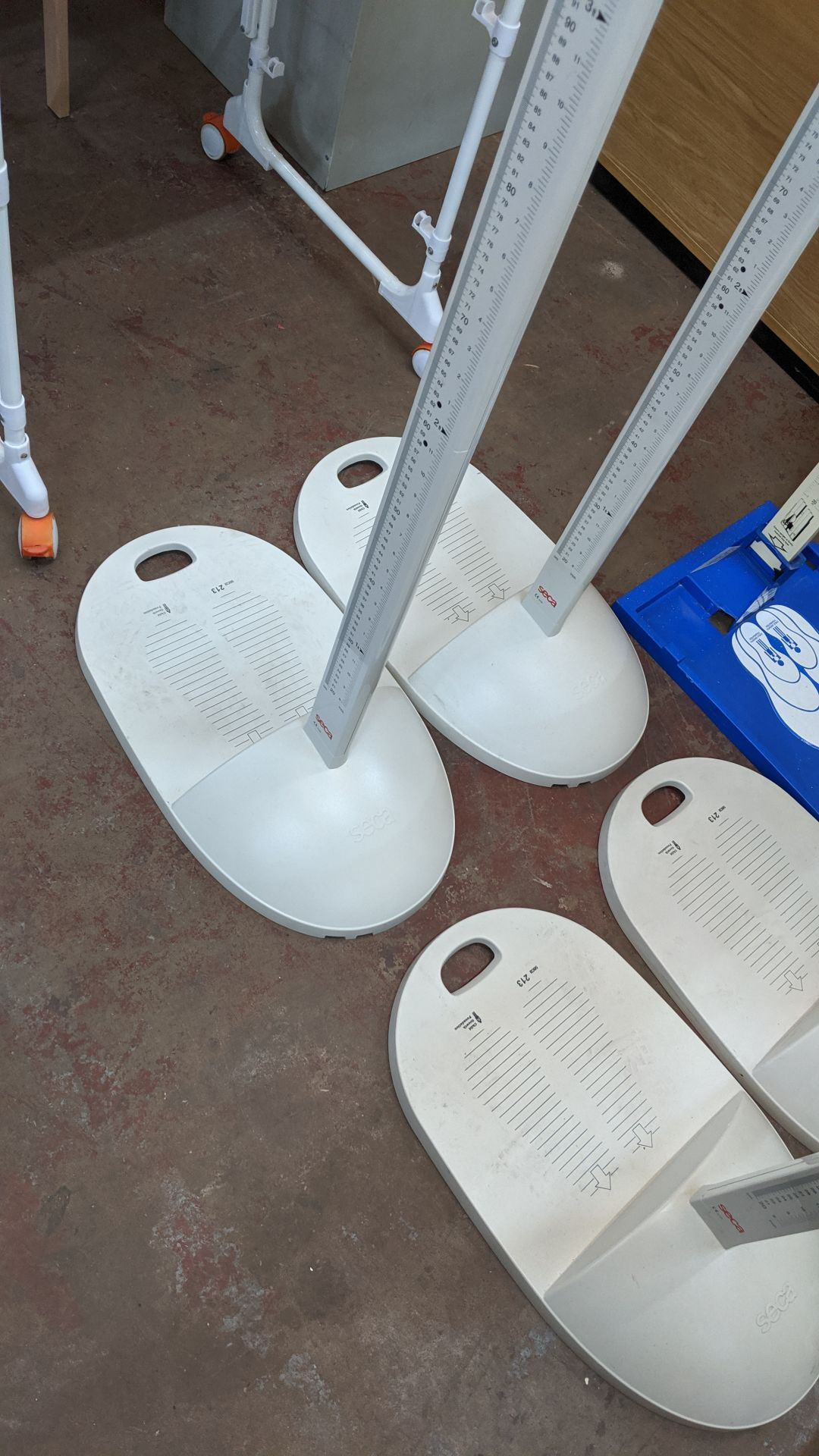 Lot 387 - 2 off Seca height measuring devices. This is one of a large number of lots used/owned by One To