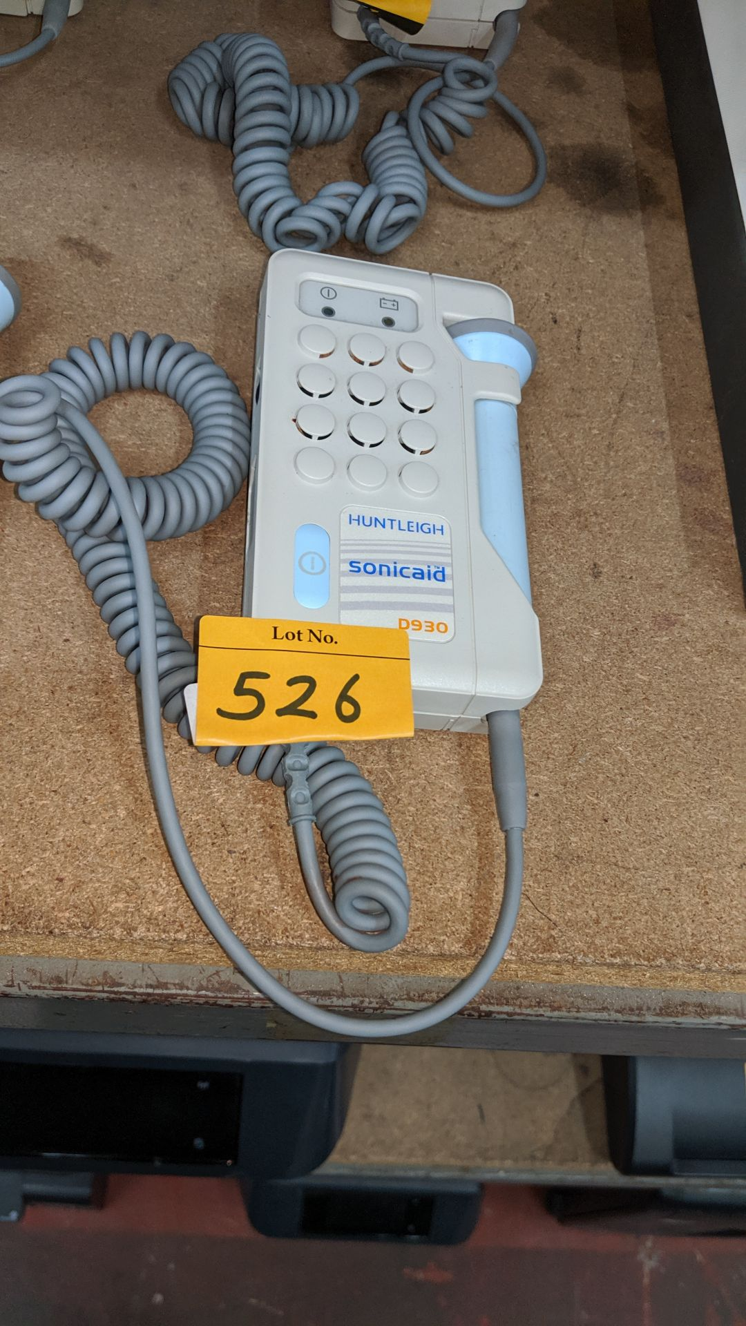 Lot 526 - Huntleigh Sonicaid model D930 Fetal Doppler . This is one of a large number of lots used/owned by