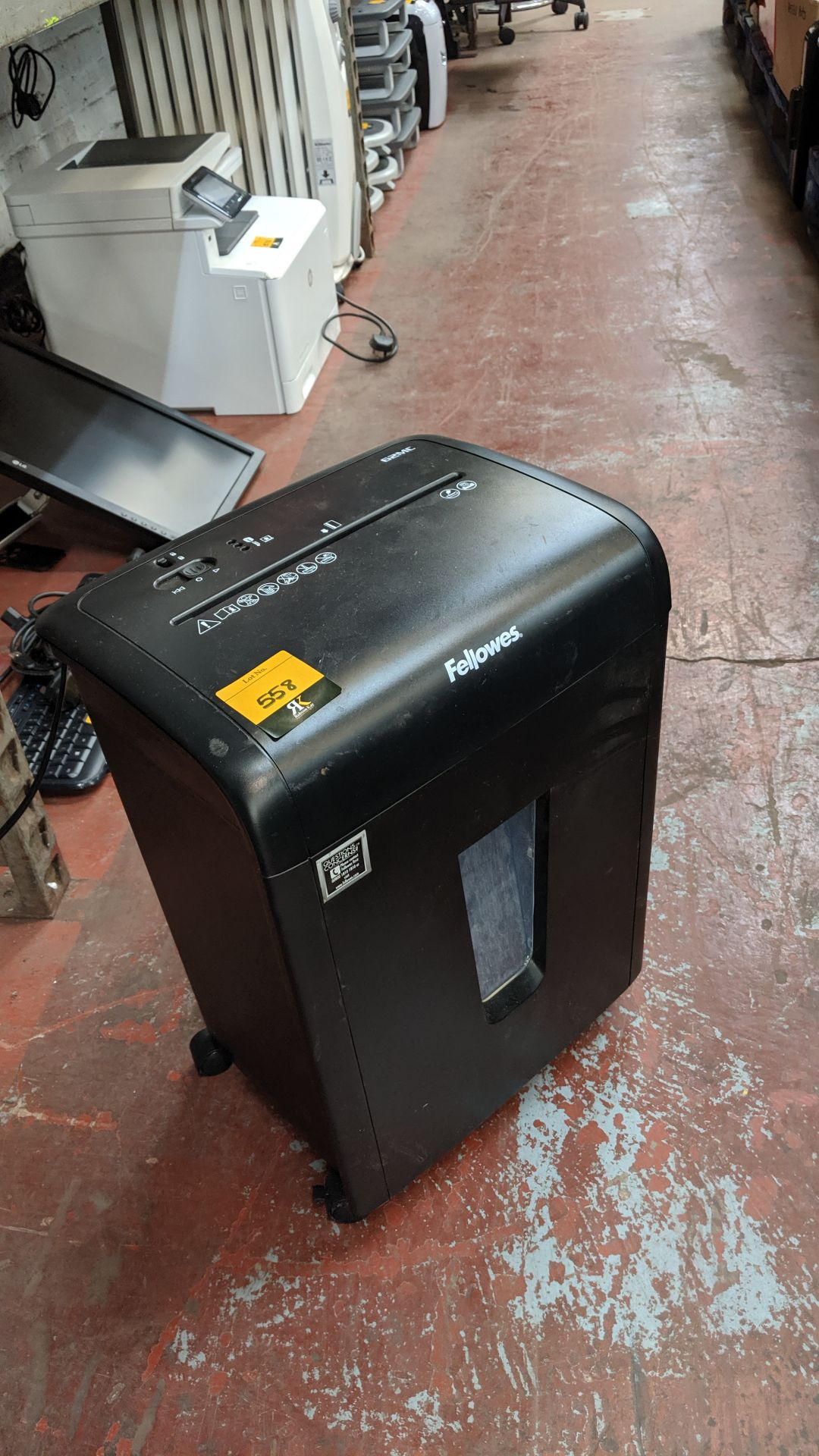 Lot 558 - Fellowes 62MC shredder. This is one of a large number of lots used/owned by One To One (North