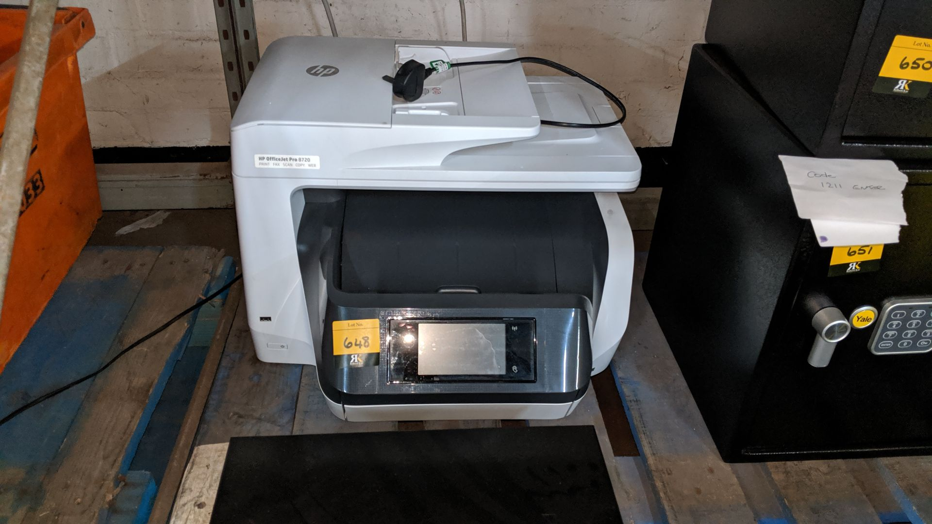 Lot 648 - HP OfficeJet Pro 8720 multifunction printer. This is one of a large number of lots used/owned by One