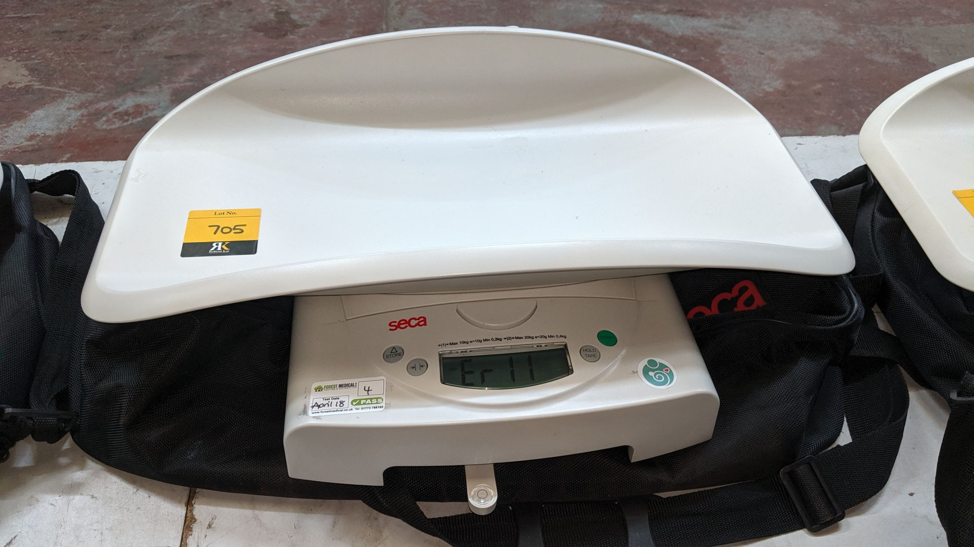 Lot 705 - Seca model 384 baby scales max. capacity 20kg. This is one of a large number of lots used/owned by