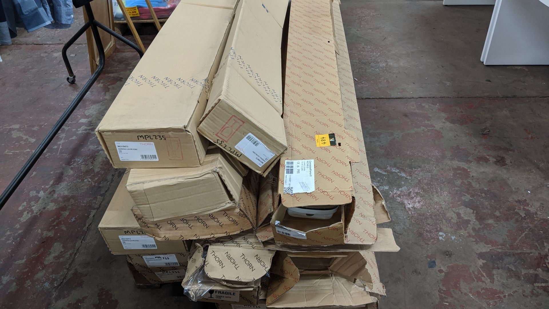 Lot 484 - Contents of a pallet of fluorescent light fittings - pallet excluded. IMPORTANT: Please remember