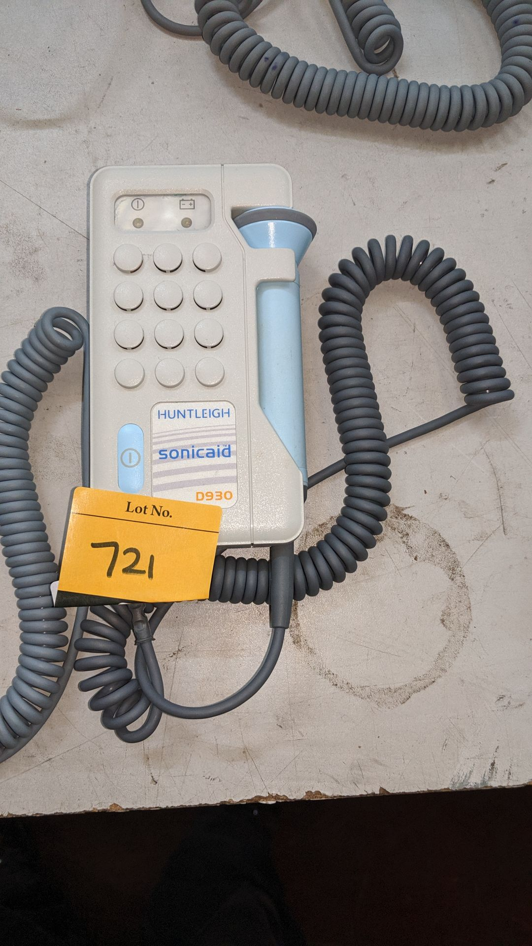Lot 721 - Huntleigh Sonicaid D930 Fetal Doppler tester. This is one of a large number of lots used/owned by