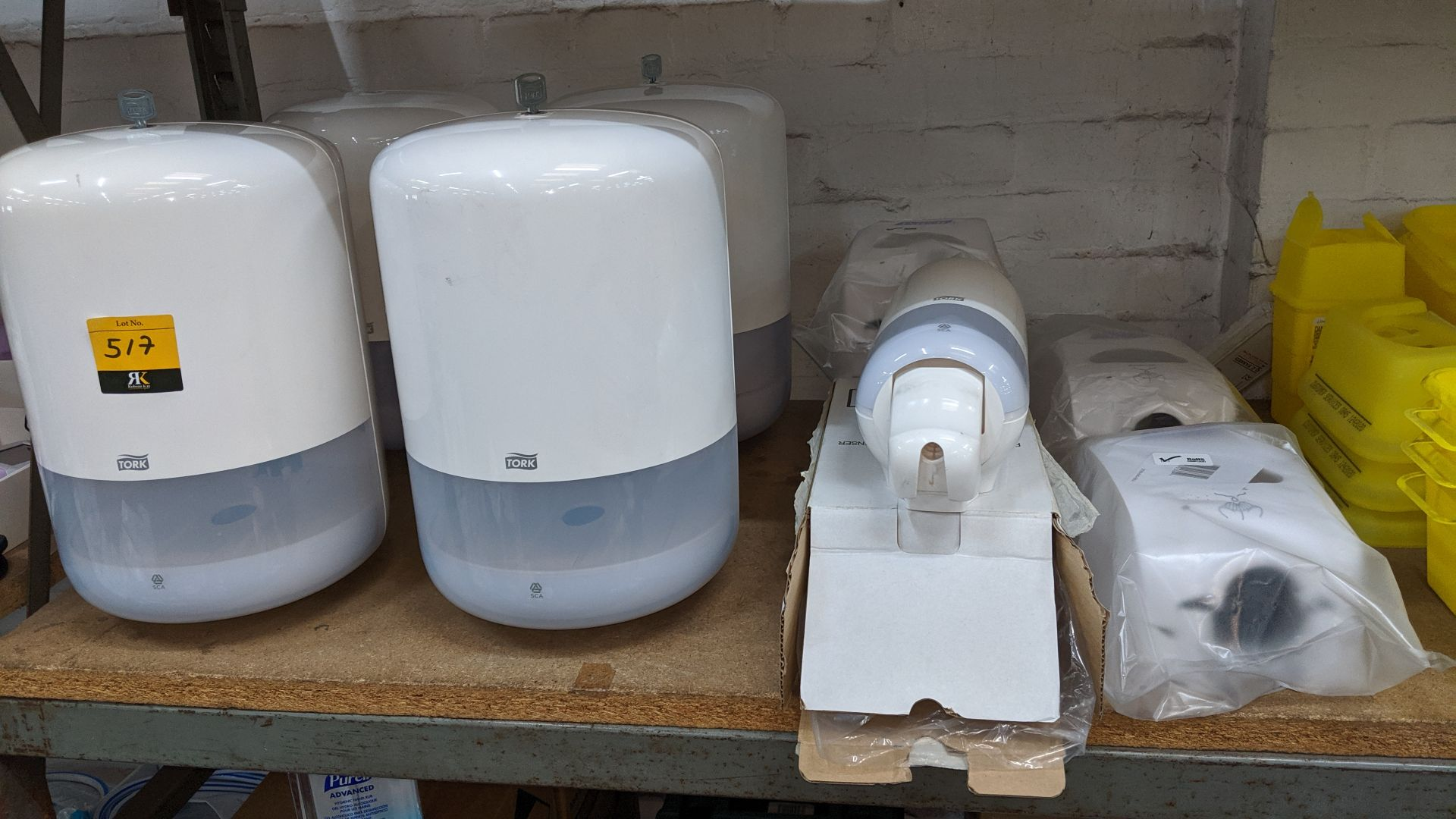 Lot 517 - 10 off Tork assorted towel & soap dispensers. This is one of a large number of lots used/owned by