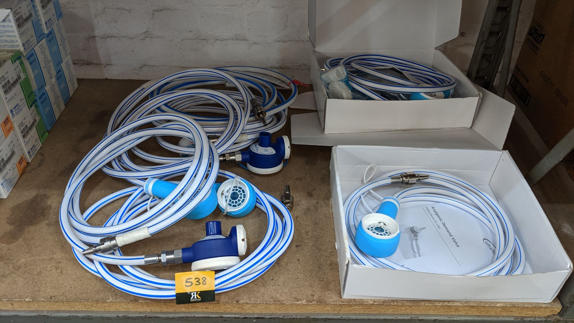 Lot 538 - 7 off assorted boxed and unboxed Analgesic Demand Valves. This is one of a large number of lots