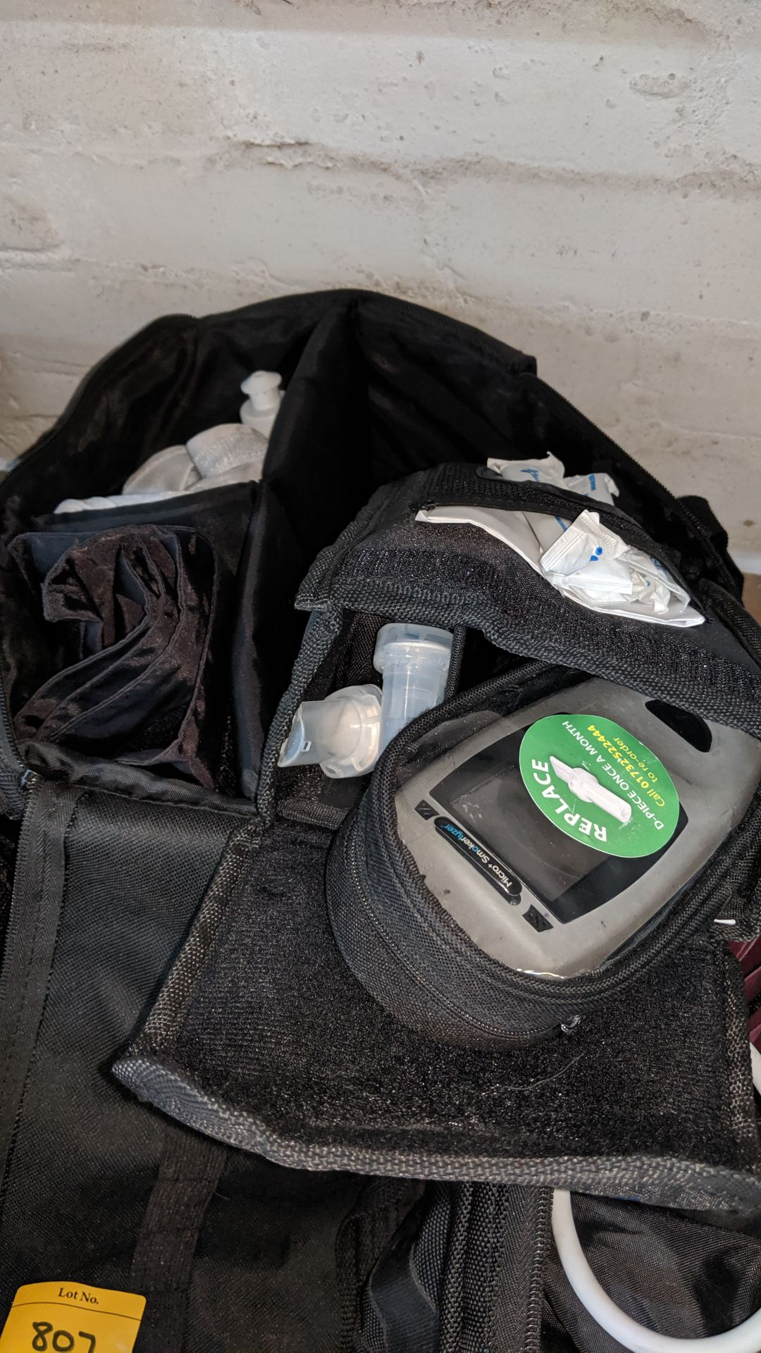 Lot 807 - 3 off medical bags & contents, each bag typically containing some or all of the following items -