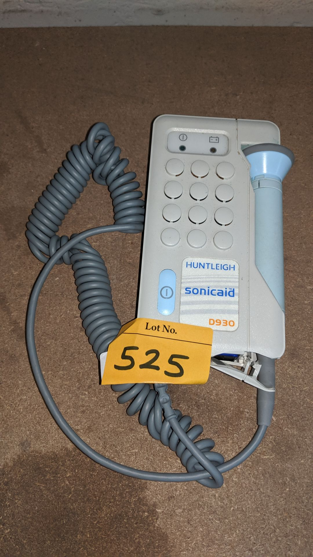 Lot 525 - Huntleigh Sonicaid model D930 Fetal Doppler . This is one of a large number of lots used/owned by