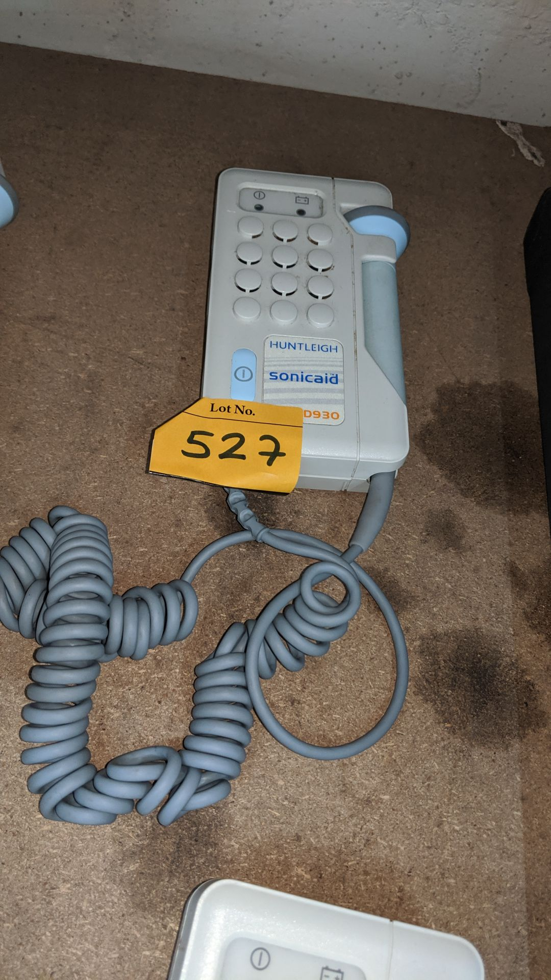 Lot 527 - Huntleigh Sonicaid model D930 Fetal Doppler . This is one of a large number of lots used/owned by
