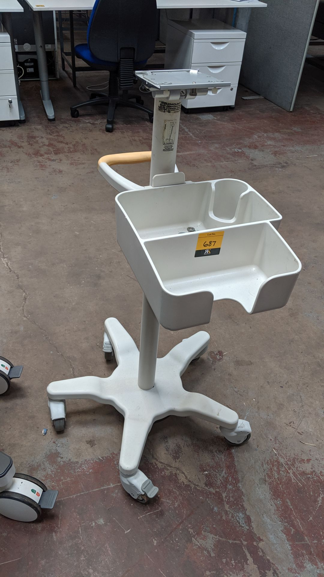 Lot 687 - Philips medical systems mobile cart. This is one of a large number of lots used/owned by One To