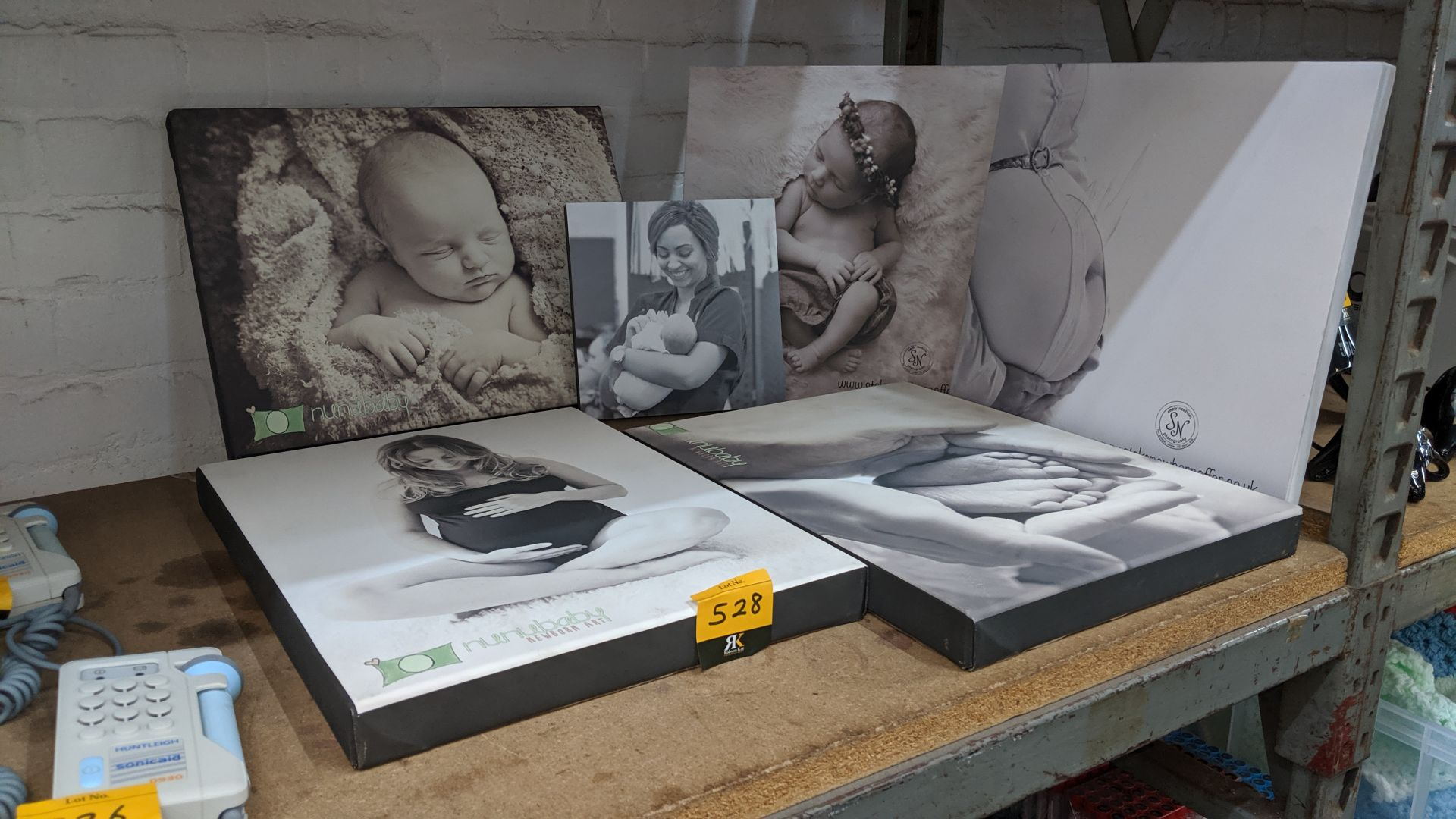 Lot 528 - 6 off assorted canvas box prints. This is one of a large number of lots used/owned by One To One (