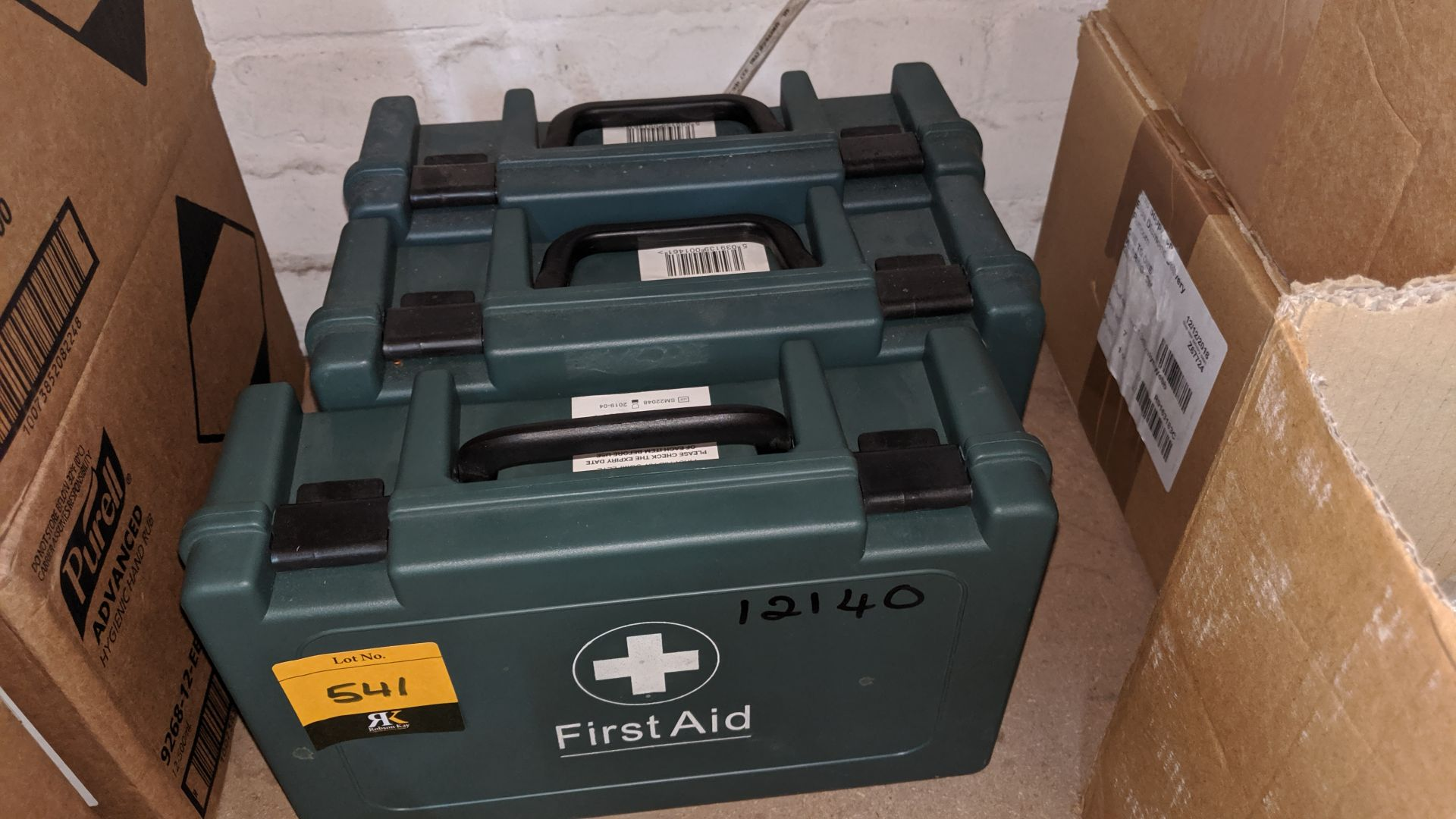 Lot 541 - 3 off first aid kits and contents. This is one of a large number of lots used/owned by One To One (