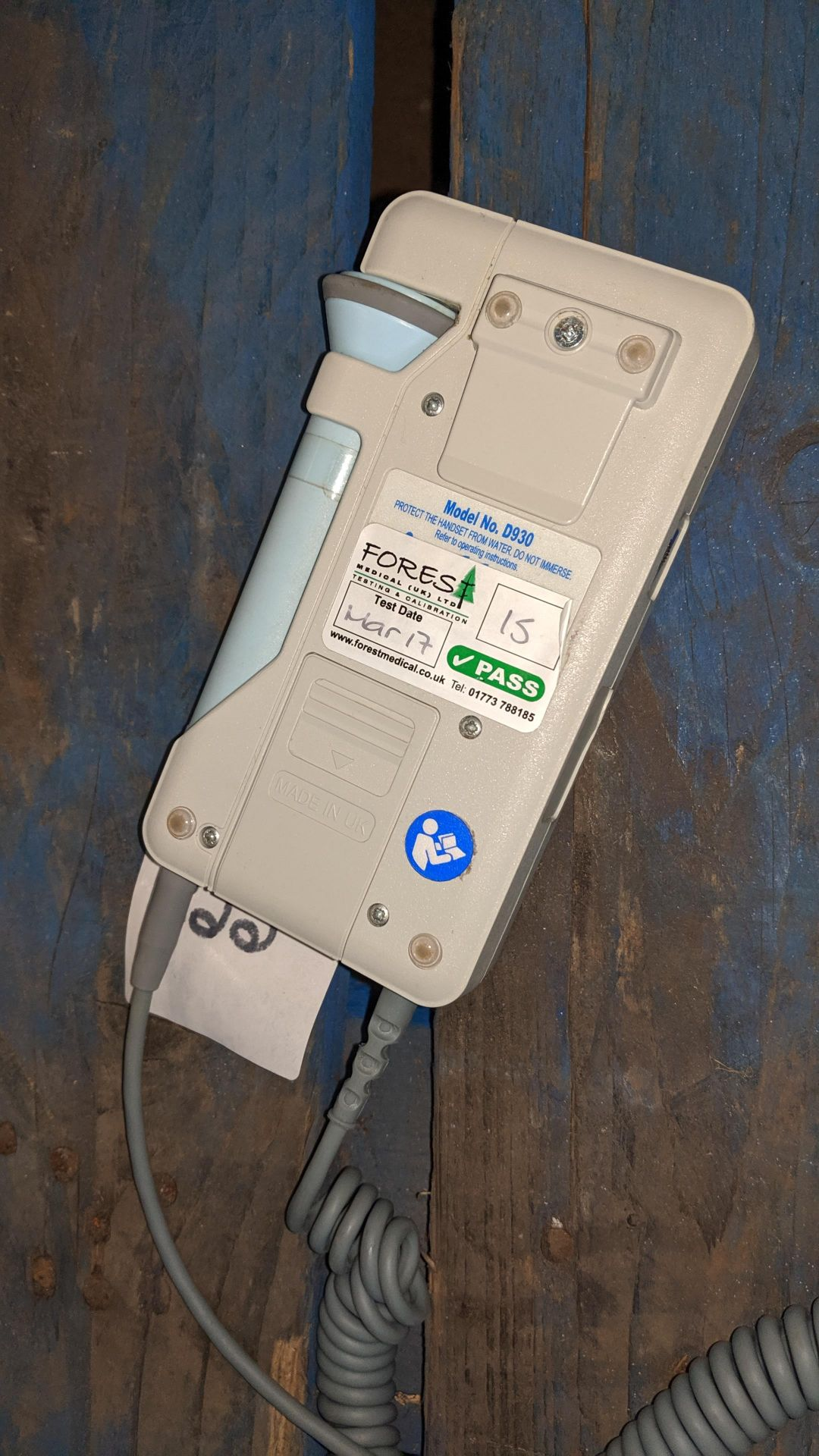 Lot 668 - Huntleigh Sonicaid D930 Fetal Doppler . This is one of a large number of lots used/owned by One To