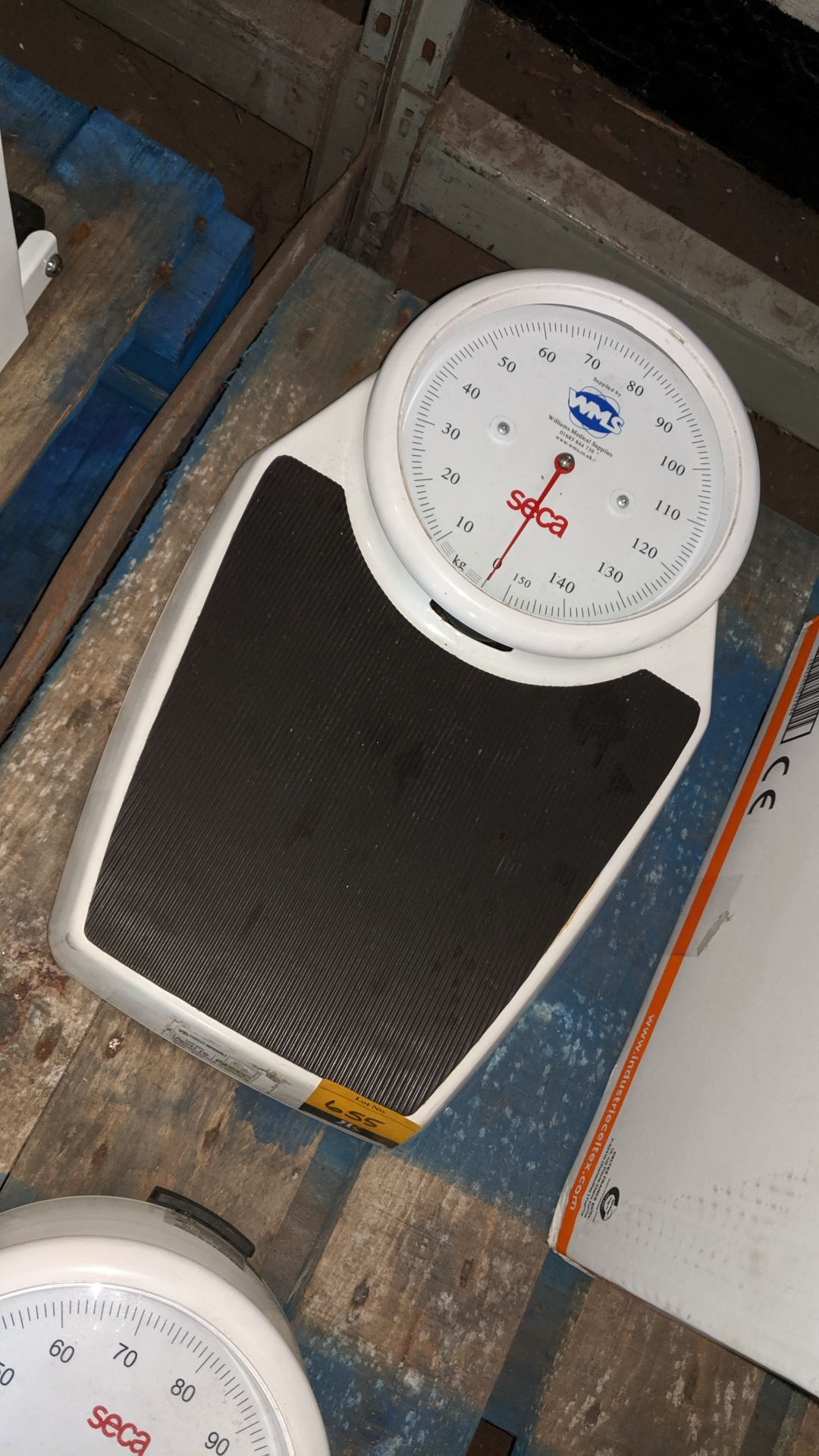 Lot 655 - Seca stand-on scales. This is one of a large number of lots used/owned by One To One (North West)