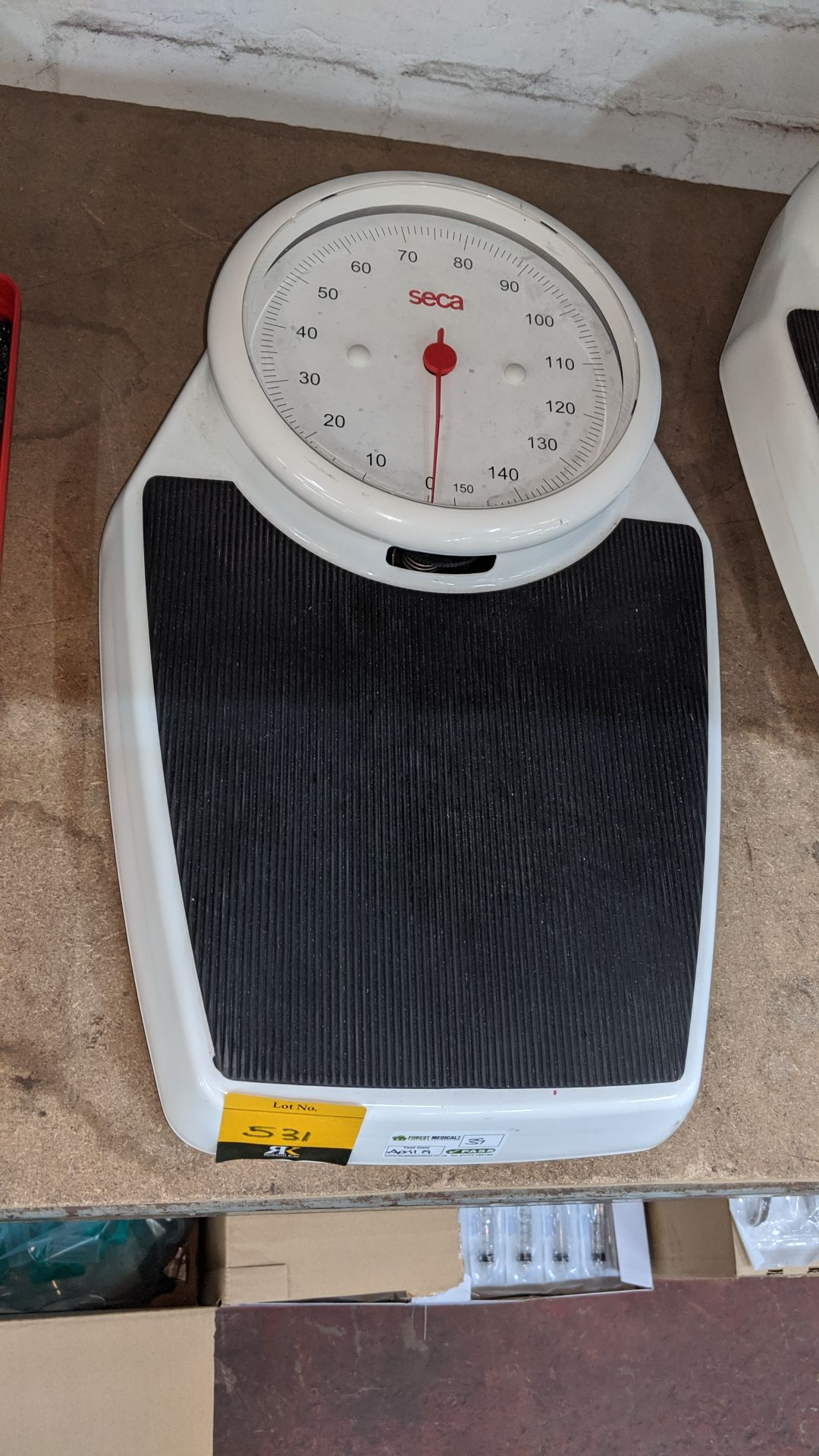 Lot 531 - Seca stand-on scales. This is one of a large number of lots used/owned by One To One (North West)