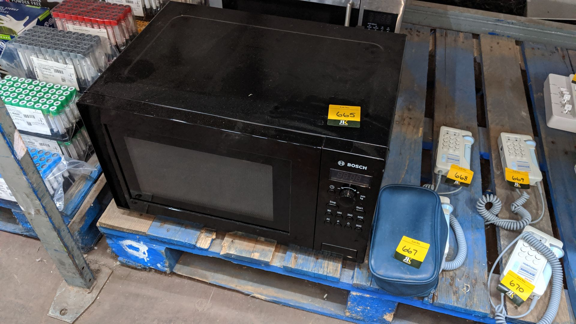 Lot 665 - Bosch microwave. This is one of a large number of lots used/owned by One To One (North West) Group