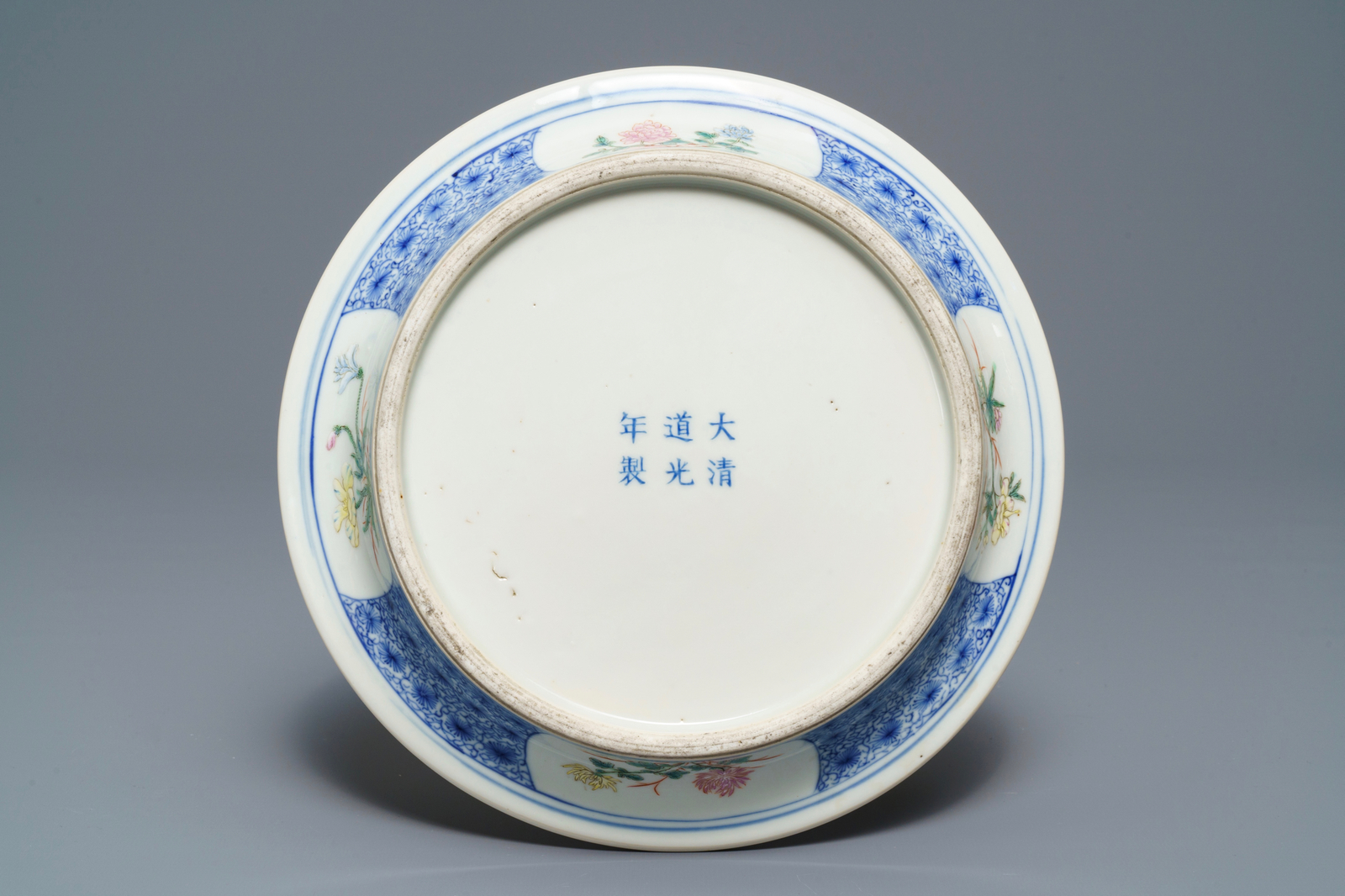 Lot 5 - A Chinese famille rose floral jardinire on stand, Guangxu mark, Republic, 20th C.