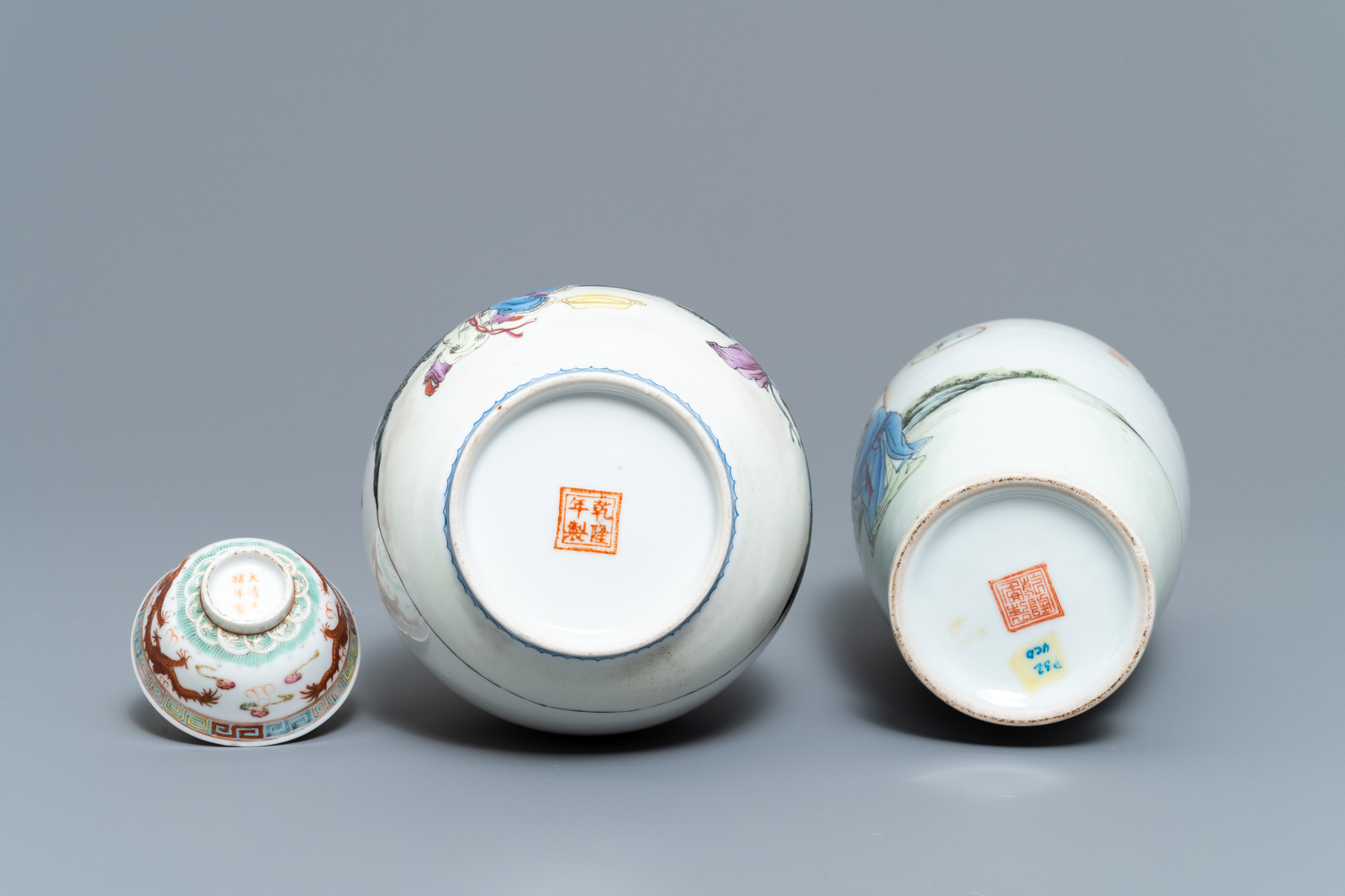 Lot 15 - A varied collection of Chinese porcelain, Qing and Republic, 19/20th C.