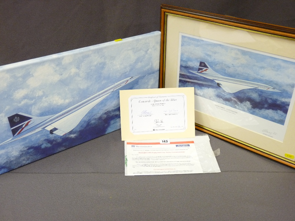 Lot 143 - ANTHONY HANSARD two limited editions titled 'Concord Supersonic' (1852/1950), signed in pencil by